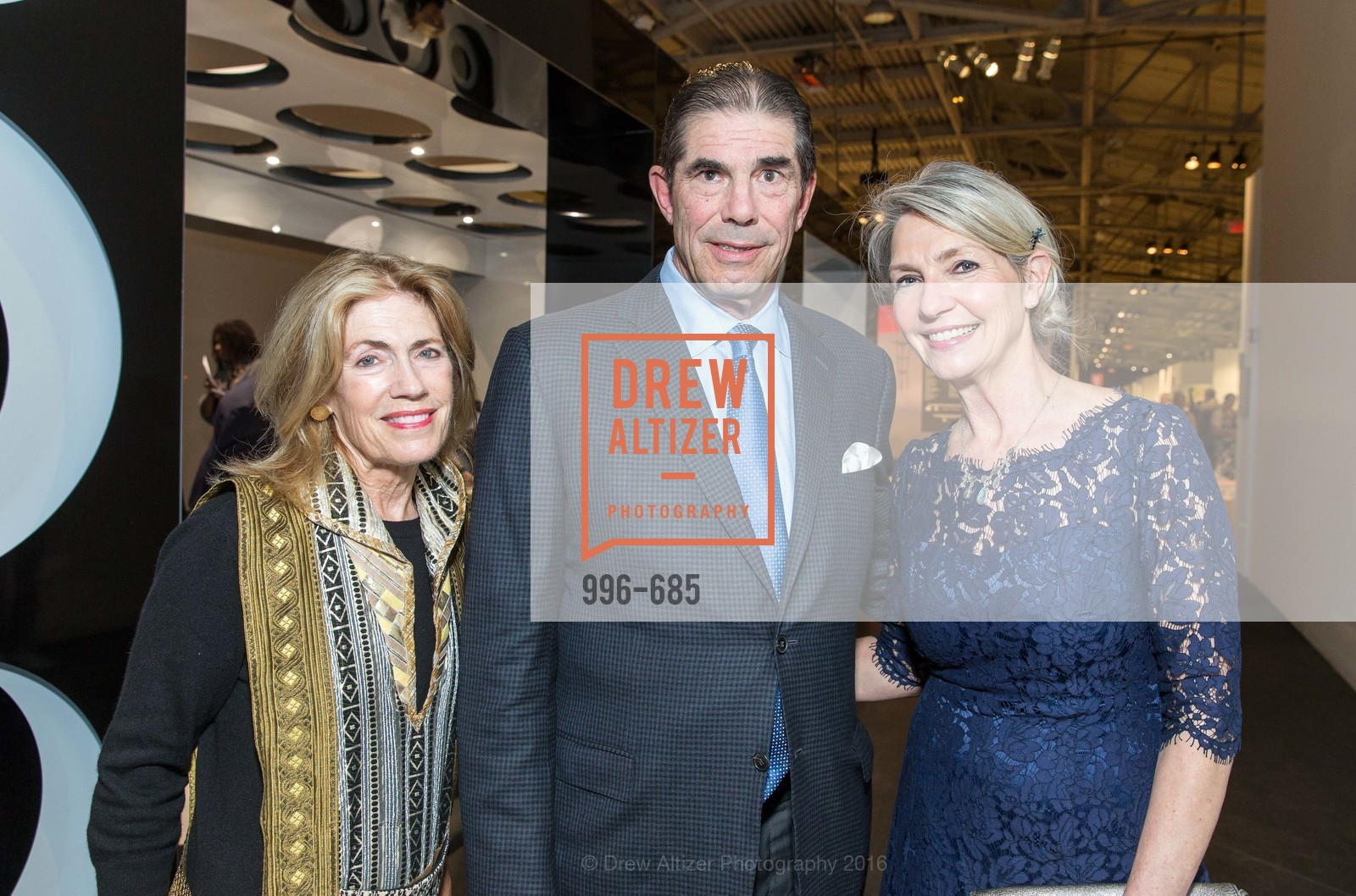 Cathy Topham, John Rosekrans, Kathy Geissler Best, FOG Design+Art Preview Gala, Fort Mason Center Festival Pavilion, January 13th, 2016,Drew Altizer, Drew Altizer Photography, full-service agency, private events, San Francisco photographer, photographer california