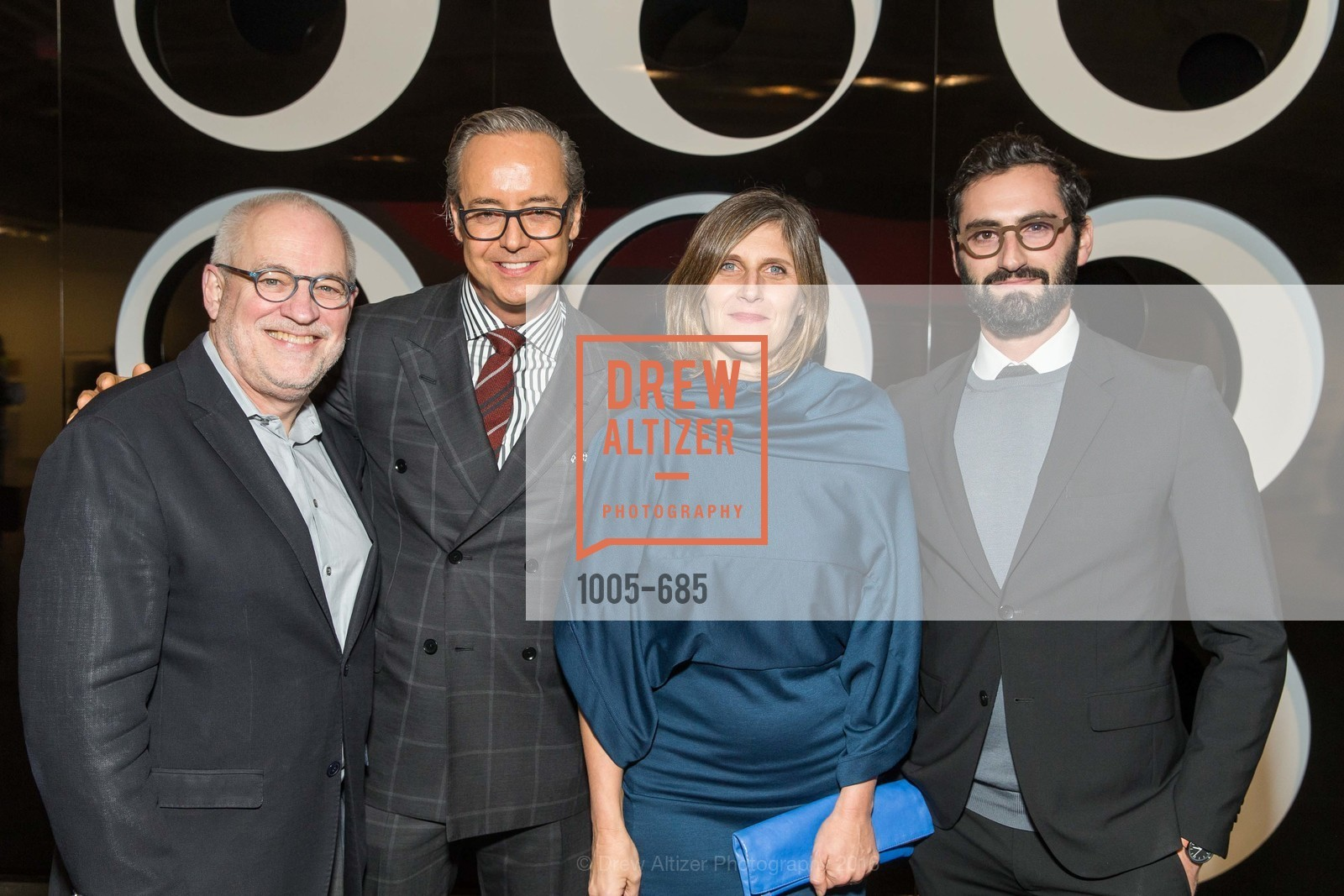 Gary Garrels, Douglas Durkin, Jennifer Dunlop Fletcher, Joseph Becker, FOG Design+Art Preview Gala, Fort Mason Center Festival Pavilion, January 13th, 2016,Drew Altizer, Drew Altizer Photography, full-service agency, private events, San Francisco photographer, photographer california