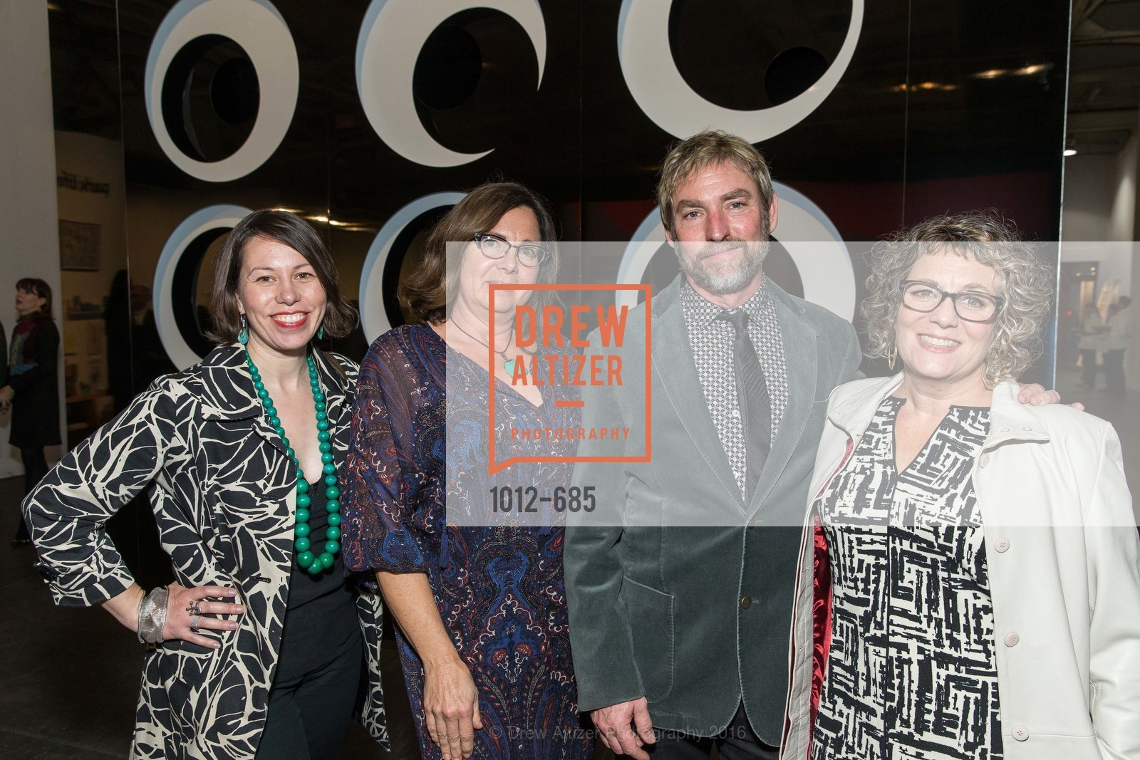 Sara Downing, Victoria Reynolds, Randy Tuell, Cynthia Sumner, FOG Design+Art Preview Gala, Fort Mason Center Festival Pavilion, January 13th, 2016,Drew Altizer, Drew Altizer Photography, full-service event agency, private events, San Francisco photographer, photographer California