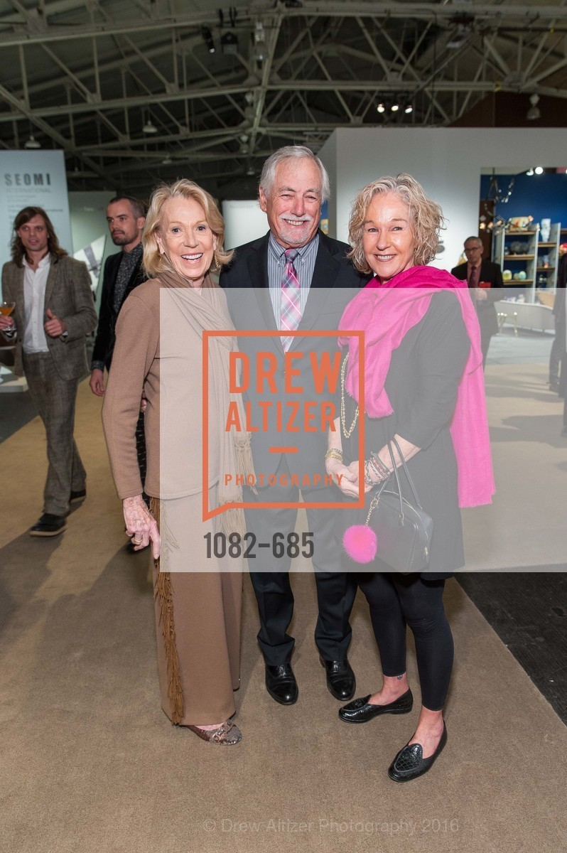 Charlotte Shultz, Mark Buell, Susie Tompkins Buell, FOG Design+Art Preview Gala, Fort Mason Center Festival Pavilion, January 13th, 2016,Drew Altizer, Drew Altizer Photography, full-service event agency, private events, San Francisco photographer, photographer California