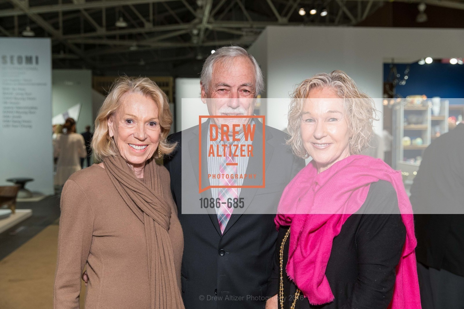 Charlotte Shultz, Mark Buell, Susie Tompkins Buell, FOG Design+Art Preview Gala, Fort Mason Center Festival Pavilion, January 13th, 2016,Drew Altizer, Drew Altizer Photography, full-service agency, private events, San Francisco photographer, photographer california