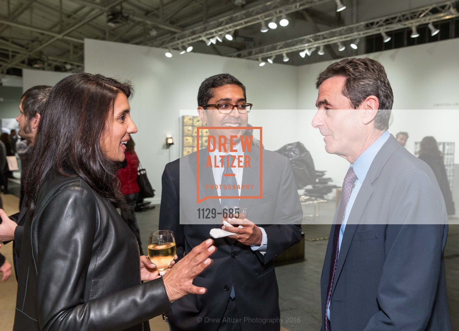 Alka Agrawal, Ravin Agrawal, Neal Benezra, FOG Design+Art Preview Gala, Fort Mason Center Festival Pavilion, January 13th, 2016,Drew Altizer, Drew Altizer Photography, full-service agency, private events, San Francisco photographer, photographer california