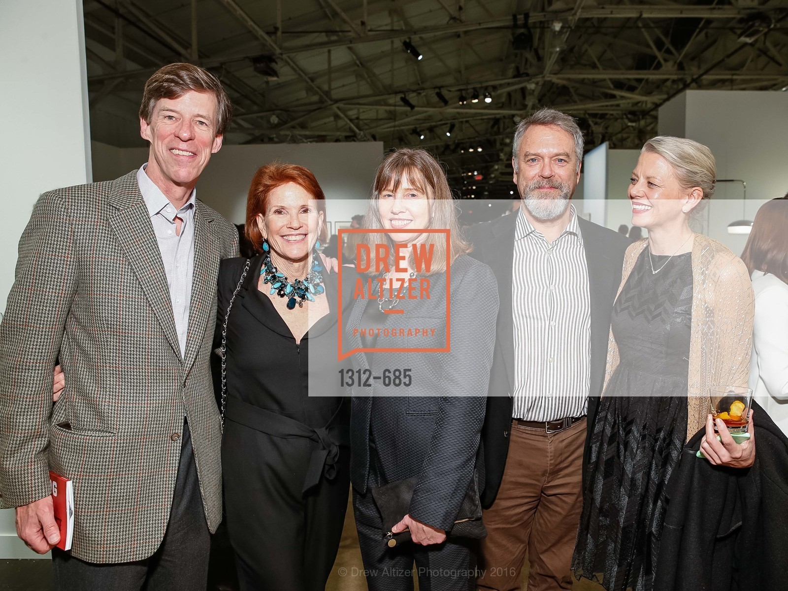 Dick Spalding, Helen Spalding, Leslie Berriman, Nion McEvoy, Katherine Clark, FOG Design+Art Preview Gala, Fort Mason Center Festival Pavilion, January 13th, 2016,Drew Altizer, Drew Altizer Photography, full-service agency, private events, San Francisco photographer, photographer california