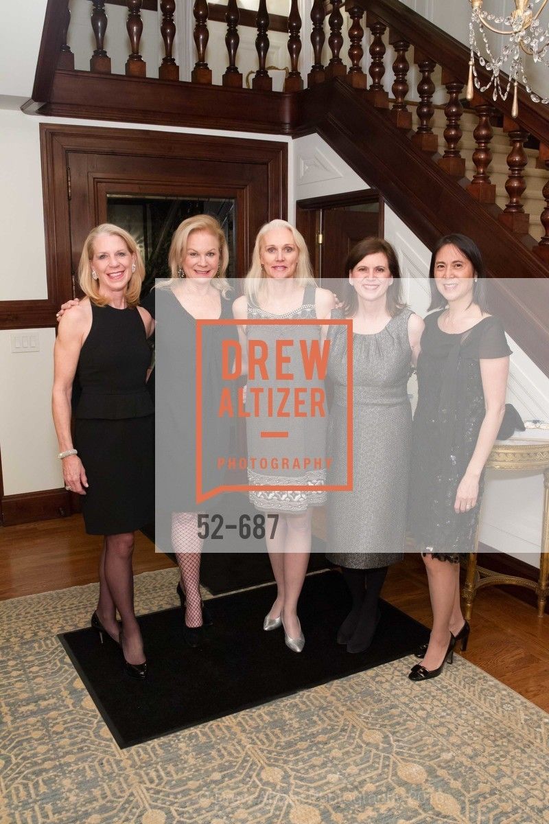 Kimberly Hopper, Claire Kostic, Laurie Harman, Beverley Siri-Borelli, Lydia Bartlett, Benefactor Party for the 2016 Ballet Gala, Private Residence, January 14th, 2016,Drew Altizer, Drew Altizer Photography, full-service event agency, private events, San Francisco photographer, photographer California