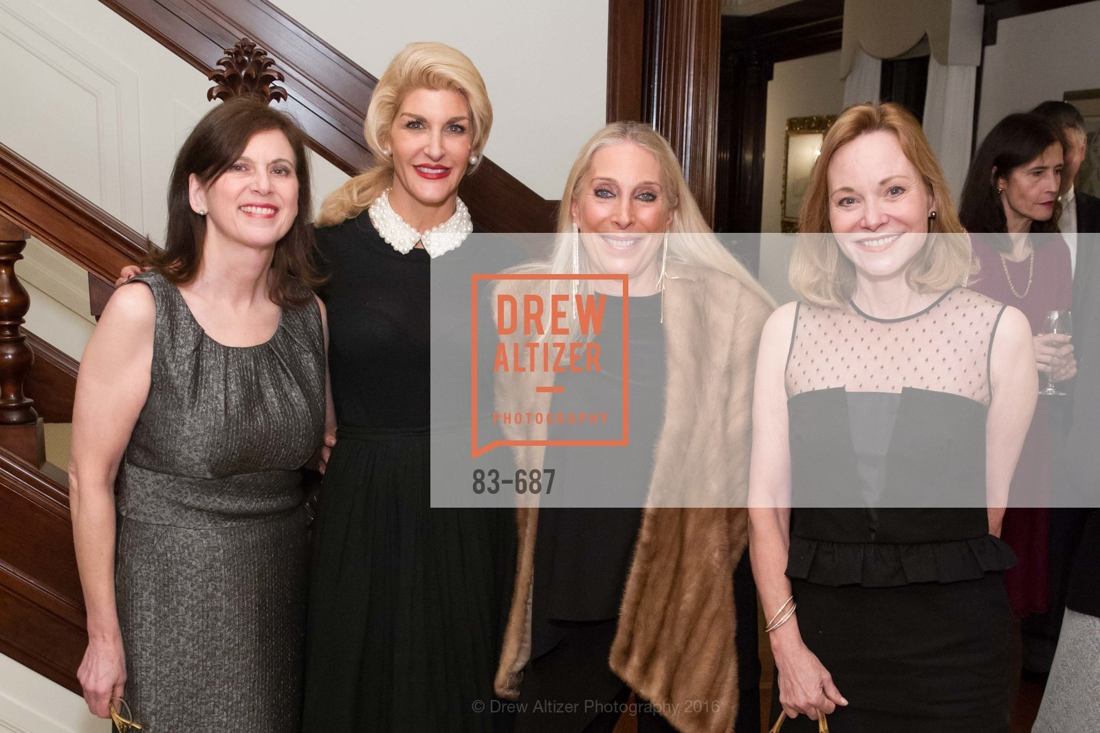 Beverley Siri-Borelli, Karen Caldwell, Betsy Linder, Janice Zakin, Benefactor Party for the 2016 Ballet Gala, Private Residence, January 14th, 2016,Drew Altizer, Drew Altizer Photography, full-service agency, private events, San Francisco photographer, photographer california