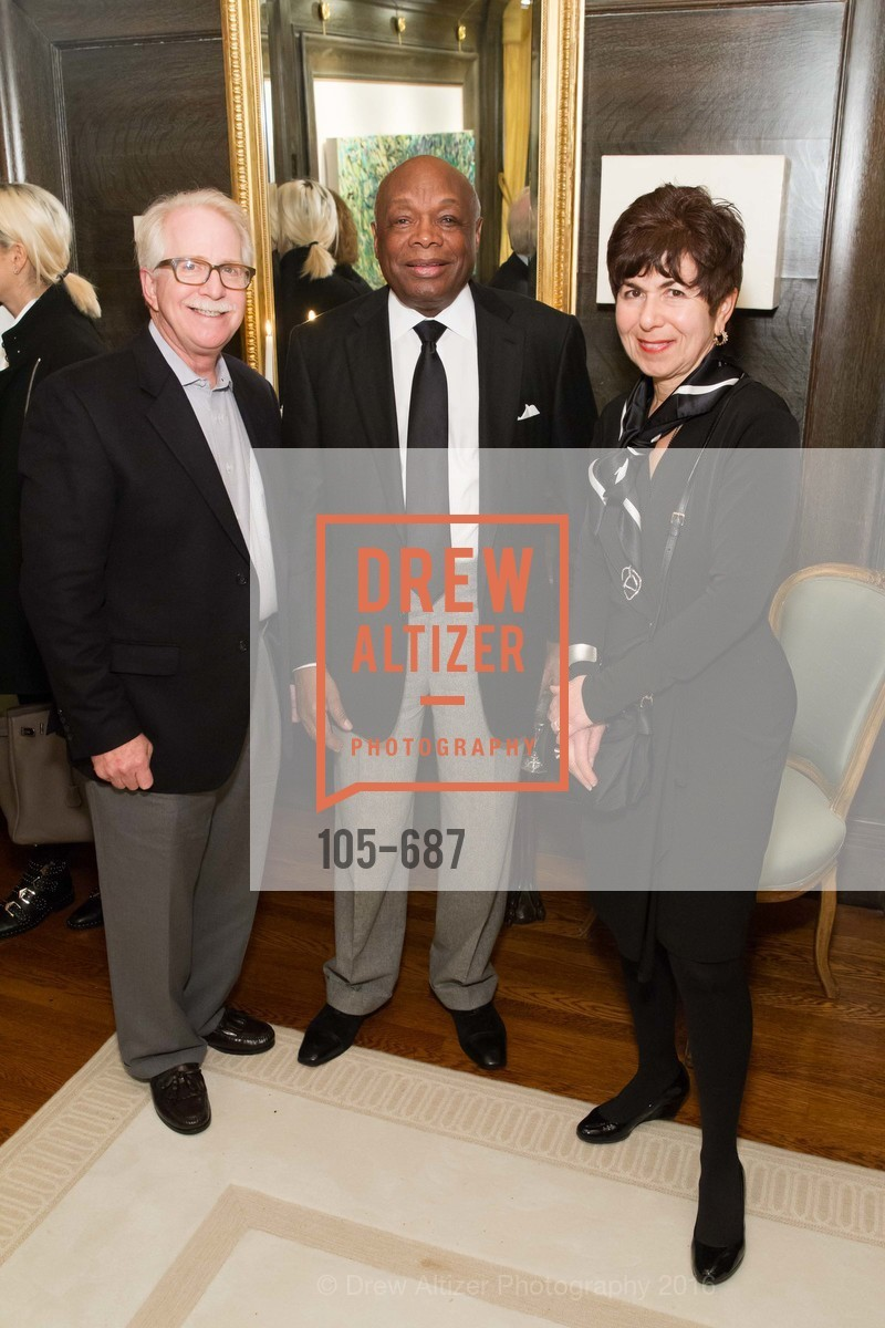 Bob Newman, Willie Brown, Jan Newman, Benefactor Party for the 2016 Ballet Gala, Private Residence, January 14th, 2016