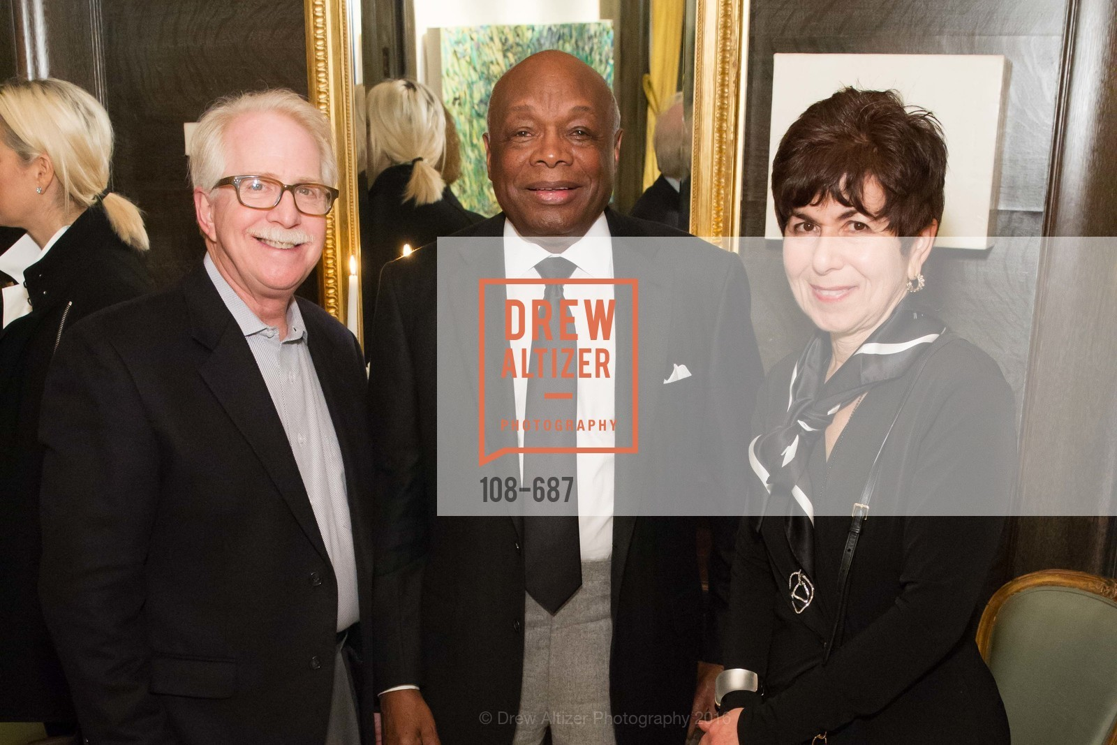 Bob Newman, Willie Brown, Jan Newman, Benefactor Party for the 2016 Ballet Gala, Private Residence, January 14th, 2016,Drew Altizer, Drew Altizer Photography, full-service agency, private events, San Francisco photographer, photographer california