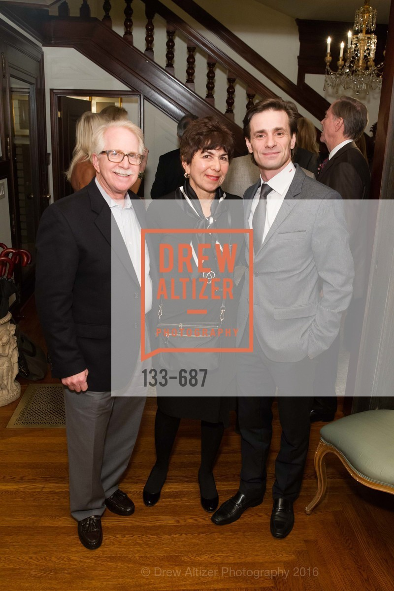 Bob Newman, Jan Newman, Pascal Molat, Benefactor Party for the 2016 Ballet Gala, Private Residence, January 14th, 2016,Drew Altizer, Drew Altizer Photography, full-service agency, private events, San Francisco photographer, photographer california