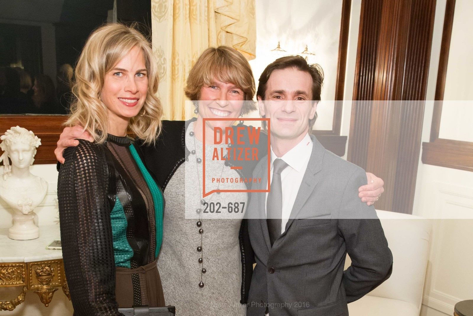 Hannah Kavoly, Kate Duhamel, Pascal Molat, Benefactor Party for the 2016 Ballet Gala, Private Residence, January 14th, 2016,Drew Altizer, Drew Altizer Photography, full-service agency, private events, San Francisco photographer, photographer california