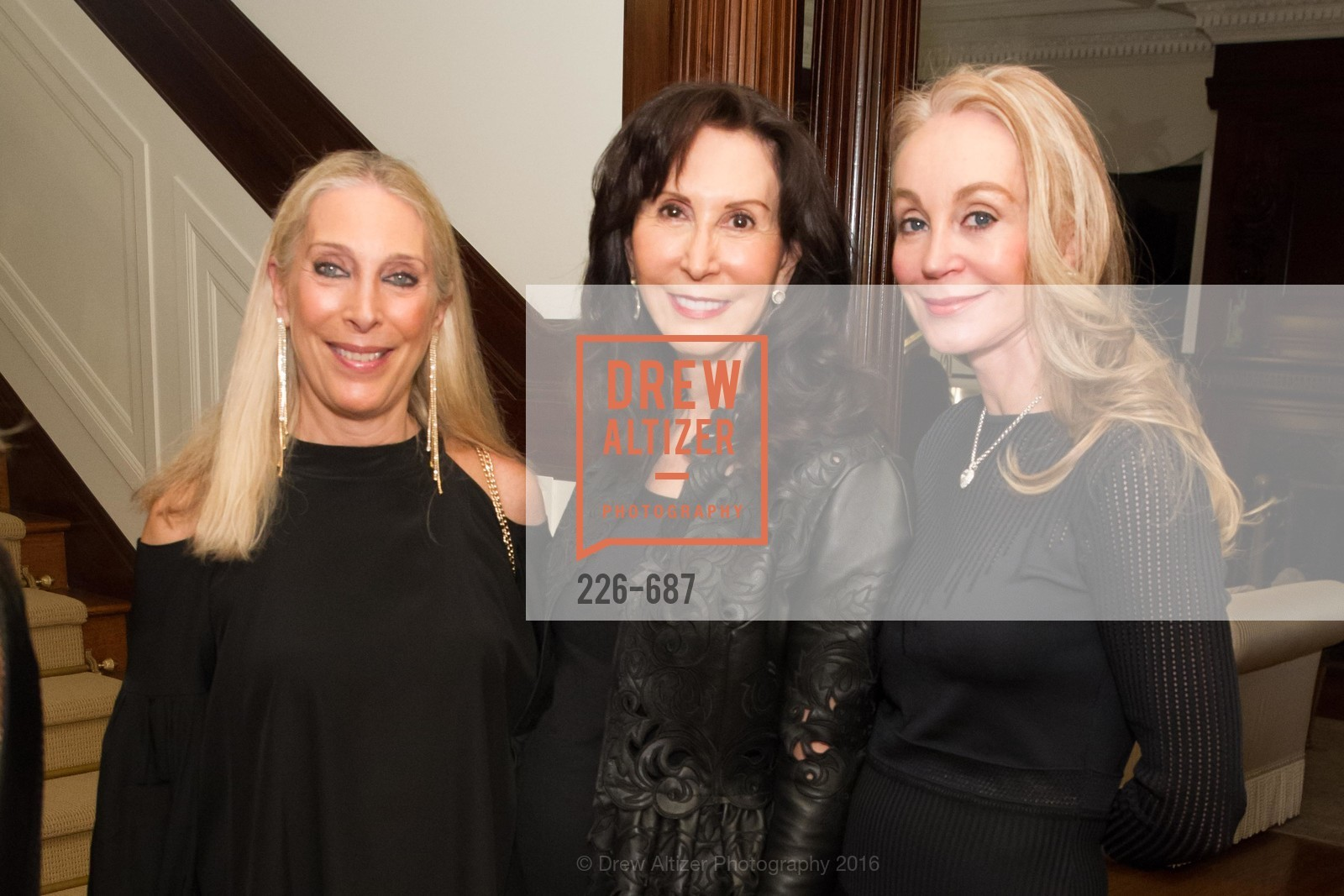 Betsy Linder, Carolyn Chandler, Giselle Parry, Benefactor Party for the 2016 Ballet Gala, Private Residence, January 14th, 2016,Drew Altizer, Drew Altizer Photography, full-service agency, private events, San Francisco photographer, photographer california
