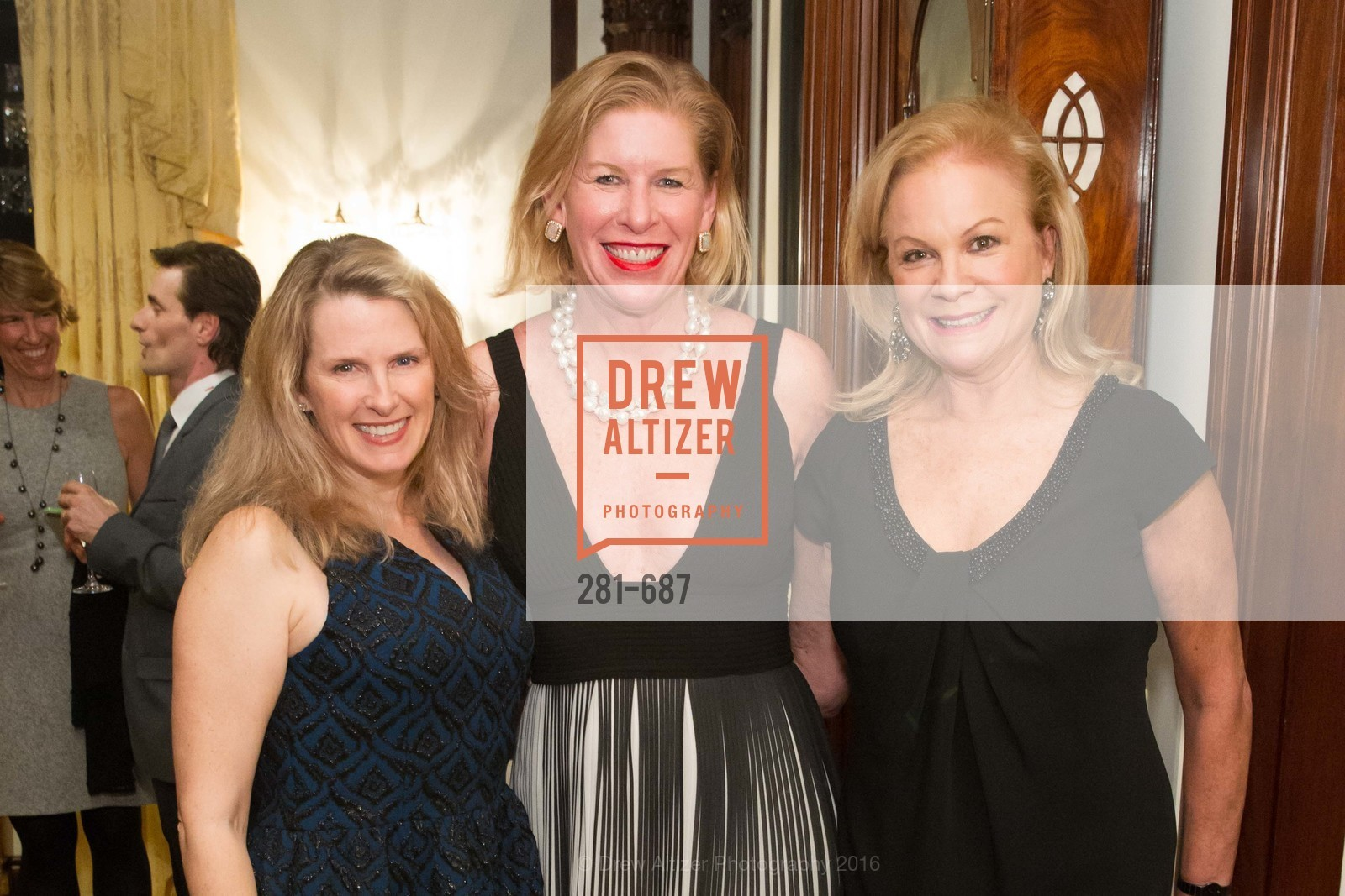 Marie Hurabiell, Jennifer Brandenburg, Claire Kostic, Benefactor Party for the 2016 Ballet Gala, Private Residence, January 14th, 2016,Drew Altizer, Drew Altizer Photography, full-service agency, private events, San Francisco photographer, photographer california