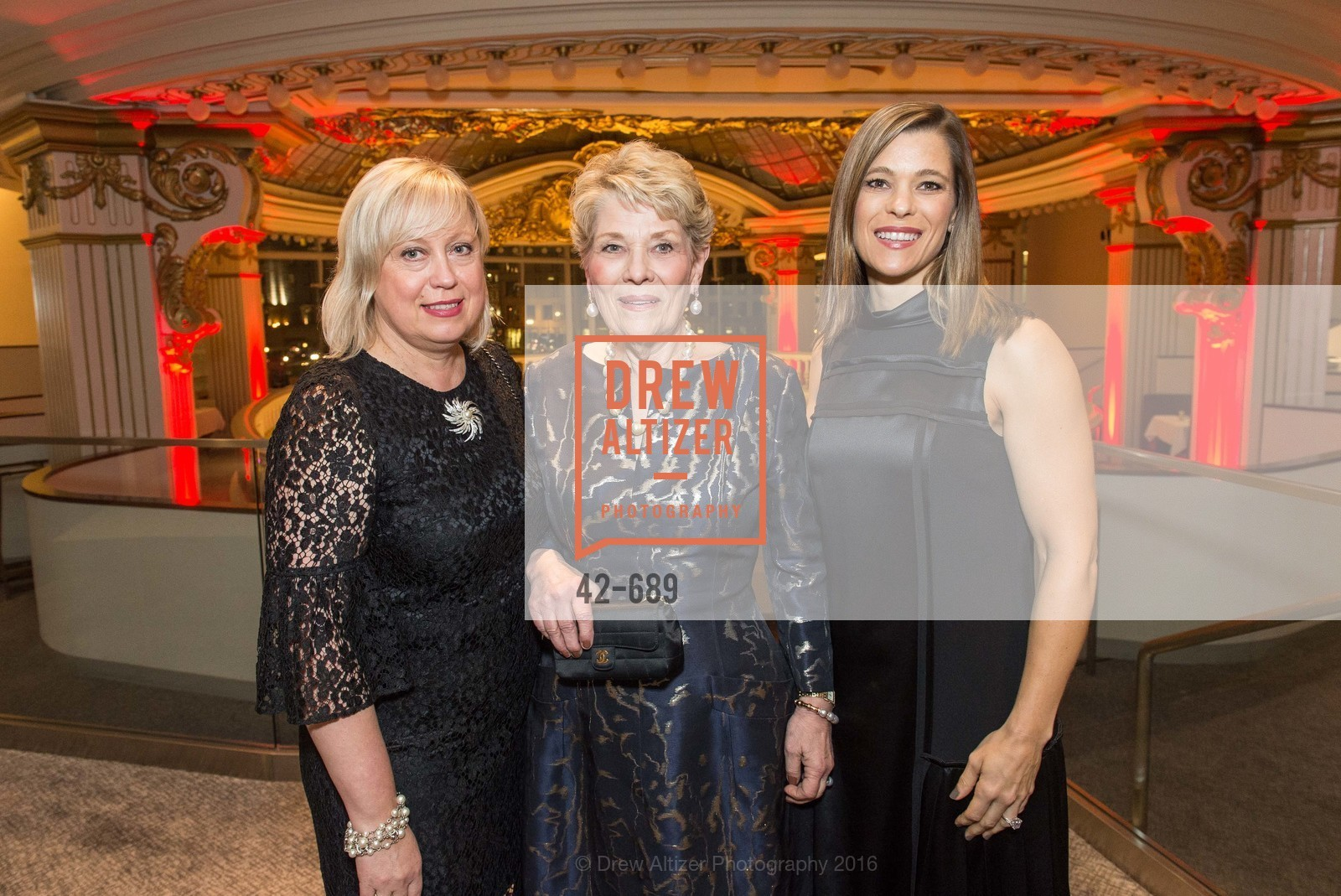 Irina Khlevner, Mary Linn Wecker, Carla Fieser, Oscar de la Renta Cocktail Party with Boaz Mazor, The Rotunda Restaurant, January 19th, 2016,Drew Altizer, Drew Altizer Photography, full-service agency, private events, San Francisco photographer, photographer california