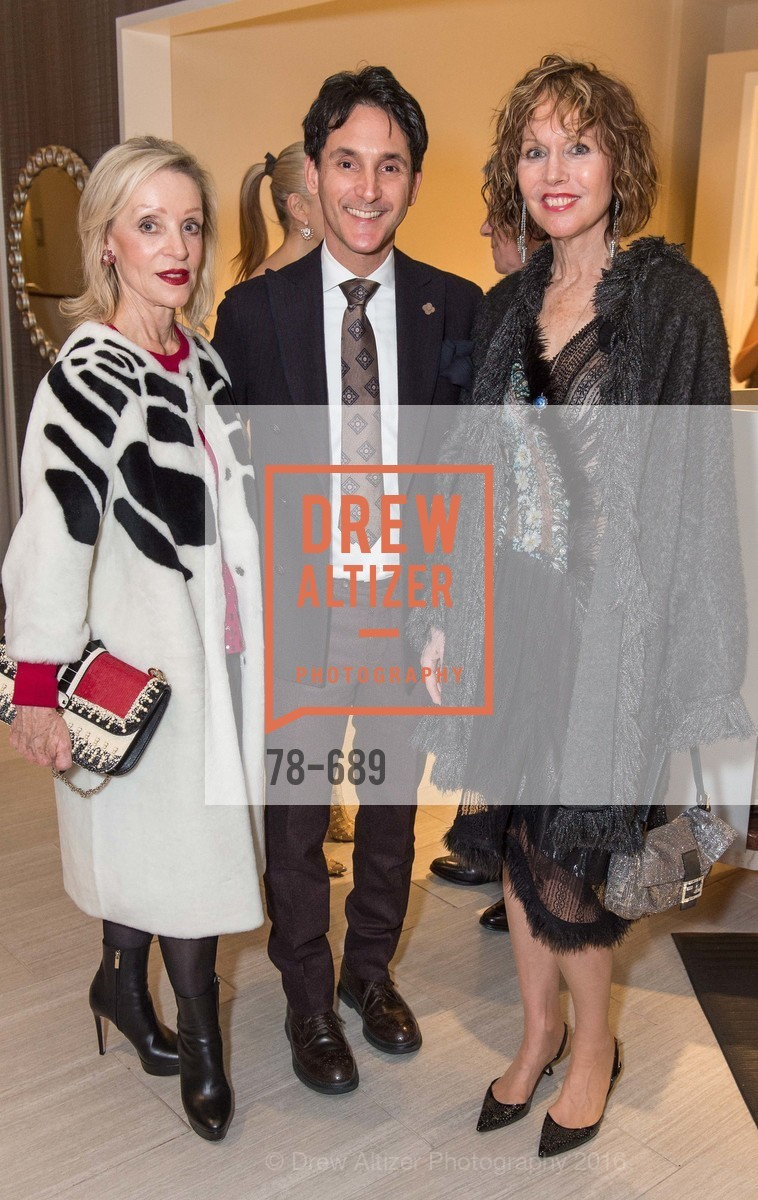 Barbara Brown, James Krohn, Christine Suppes, Oscar de la Renta Cocktail Party with Boaz Mazor, The Rotunda Restaurant, January 19th, 2016,Drew Altizer, Drew Altizer Photography, full-service agency, private events, San Francisco photographer, photographer california