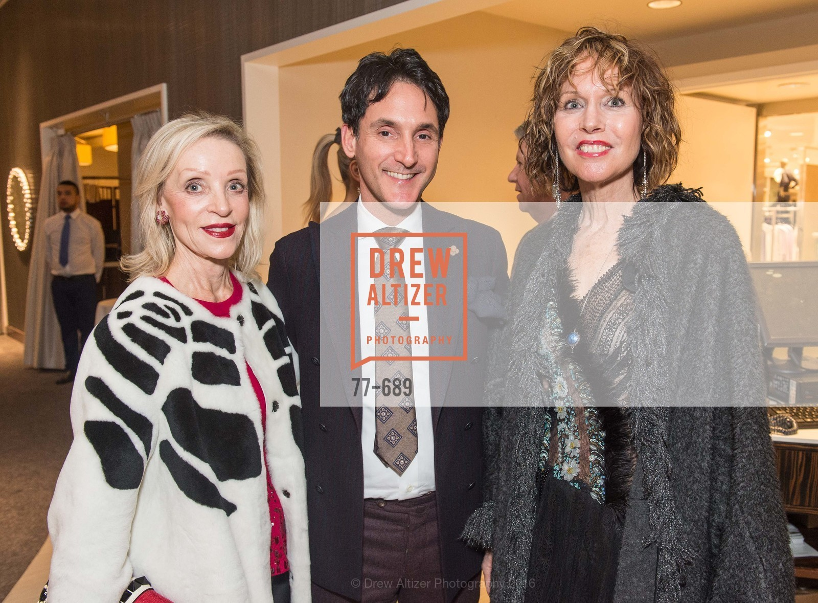 Barbara Brown, James Krohn, Christine Suppes, Oscar de la Renta Cocktail Party with Boaz Mazor, The Rotunda Restaurant, January 19th, 2016