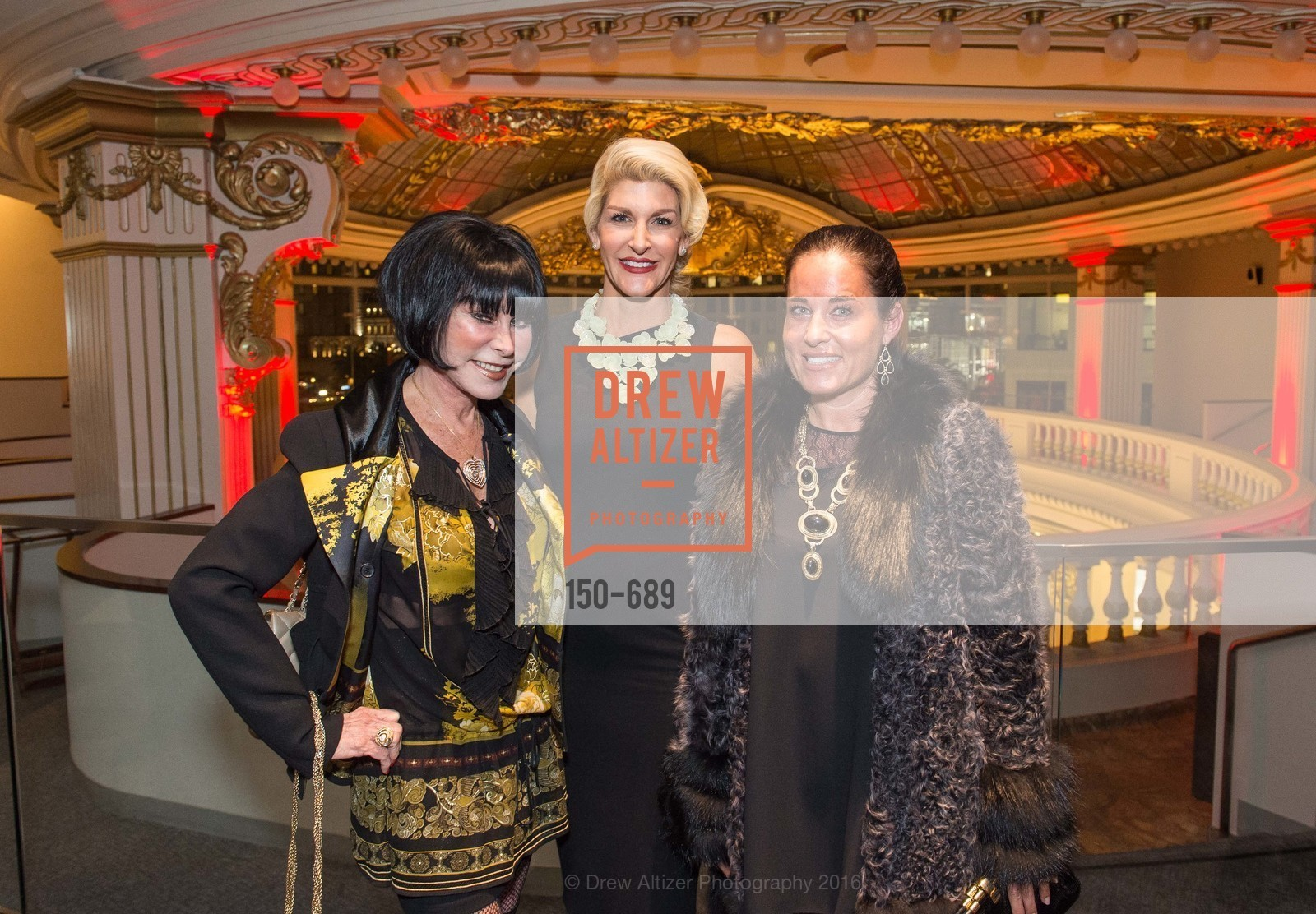 Marilyn Cabak, Karen Caldwell, Natalia Urrutia, Oscar de la Renta Cocktail Party with Boaz Mazor, The Rotunda Restaurant, January 19th, 2016,Drew Altizer, Drew Altizer Photography, full-service agency, private events, San Francisco photographer, photographer california