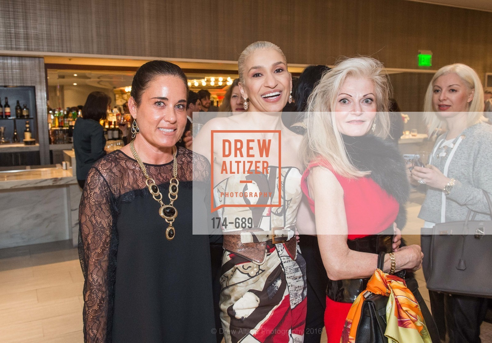Natalia Urrutia, Navid Armstrong, Diane Carlson, Oscar de la Renta Cocktail Party with Boaz Mazor, The Rotunda Restaurant, January 19th, 2016,Drew Altizer, Drew Altizer Photography, full-service agency, private events, San Francisco photographer, photographer california