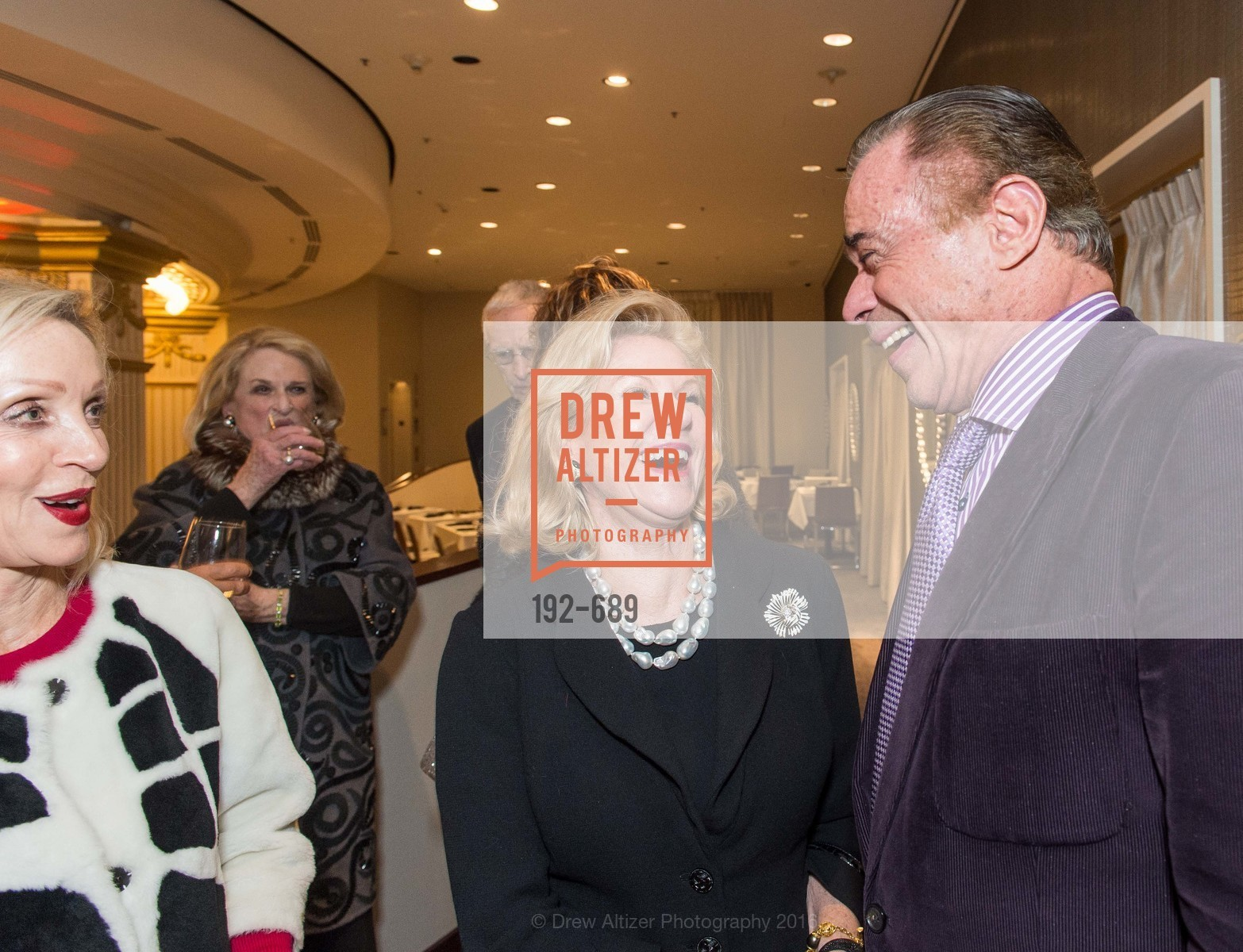 Barbara Brown, Dede Wilsey, Richard Benefield, Oscar de la Renta Cocktail Party with Boaz Mazor, The Rotunda Restaurant, January 19th, 2016,Drew Altizer, Drew Altizer Photography, full-service agency, private events, San Francisco photographer, photographer california