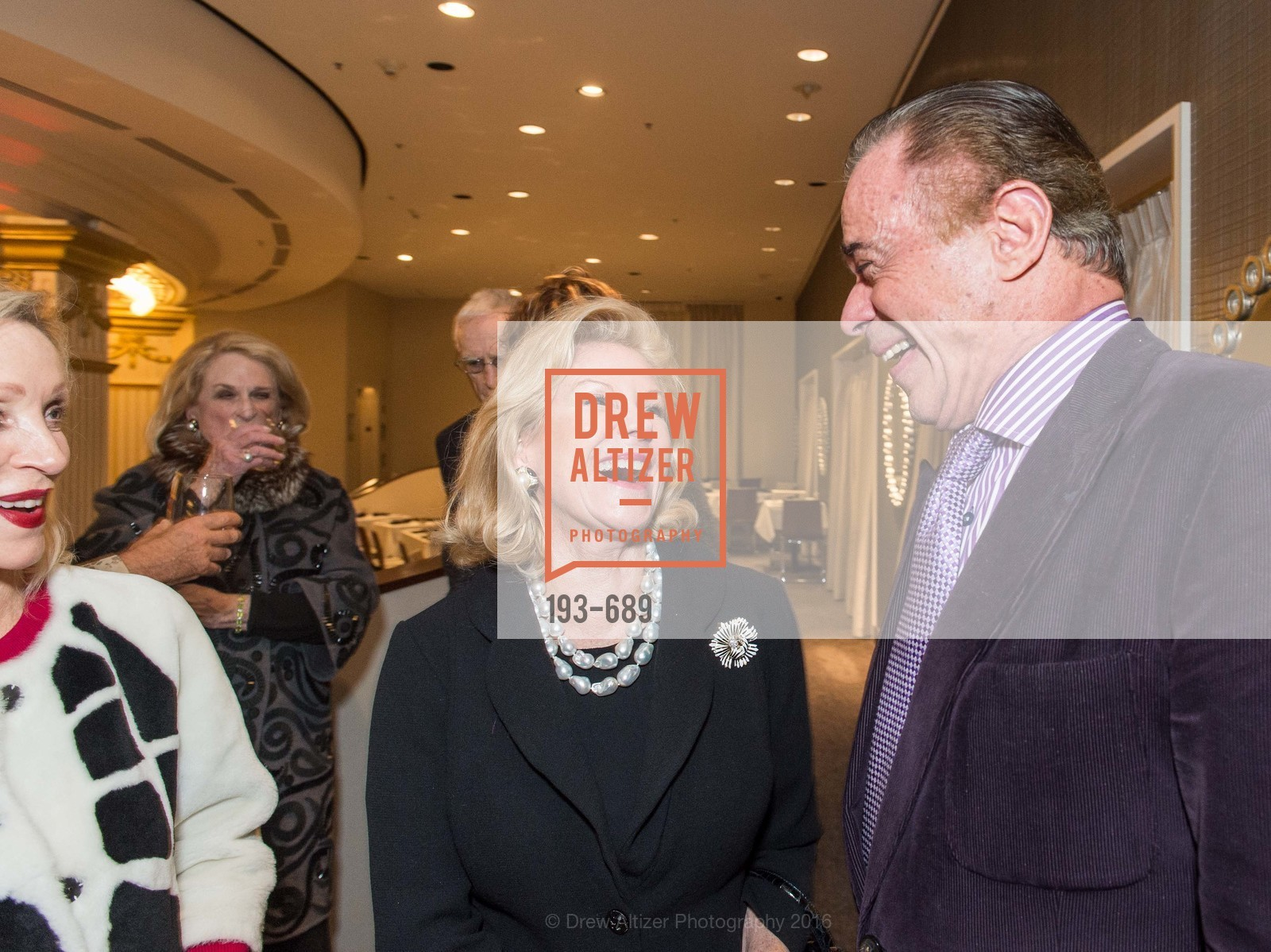 Dede Wilsey, Richard Benefield, Oscar de la Renta Cocktail Party with Boaz Mazor, The Rotunda Restaurant, January 19th, 2016,Drew Altizer, Drew Altizer Photography, full-service agency, private events, San Francisco photographer, photographer california