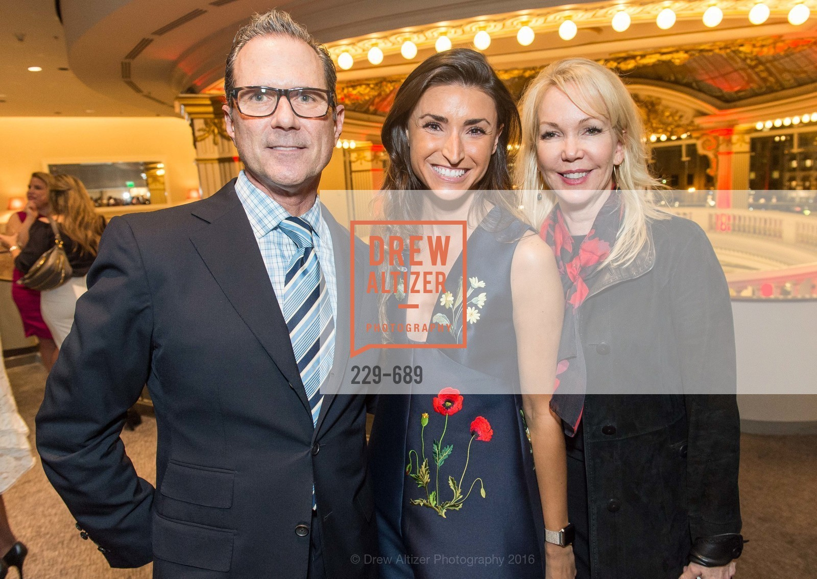 Dean Allen Taylor, Bron Wyn, Mary Christensen, Oscar de la Renta Cocktail Party with Boaz Mazor, The Rotunda Restaurant, January 19th, 2016,Drew Altizer, Drew Altizer Photography, full-service event agency, private events, San Francisco photographer, photographer California