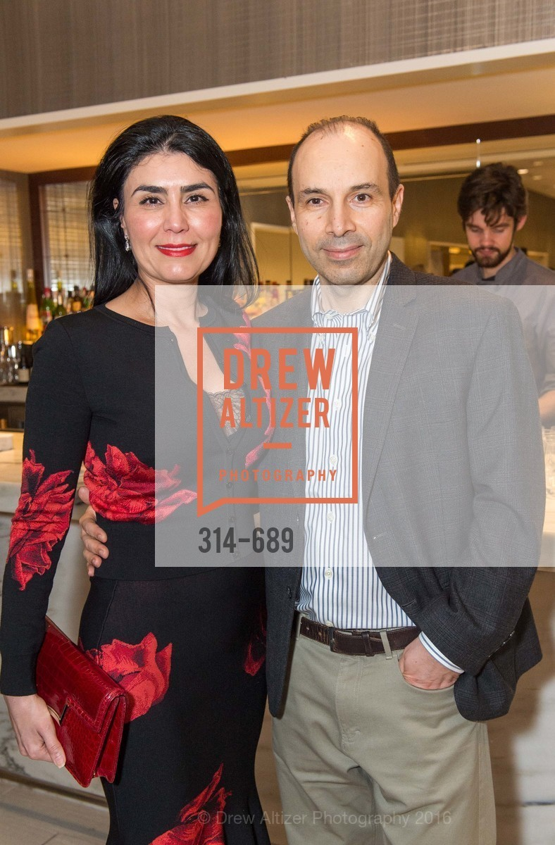 Afsaneh Akhtari, Mark Moasser, Oscar de la Renta Cocktail Party with Boaz Mazor, The Rotunda Restaurant, January 19th, 2016,Drew Altizer, Drew Altizer Photography, full-service agency, private events, San Francisco photographer, photographer california