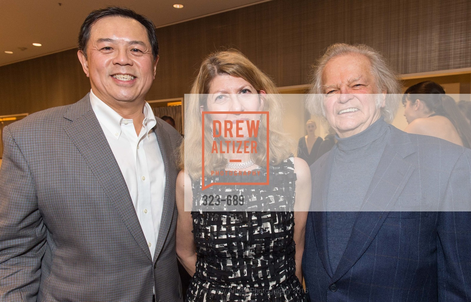 Darryl Woo, Emely Weissman, Michael Cabak, Oscar de la Renta Cocktail Party with Boaz Mazor, The Rotunda Restaurant, January 19th, 2016,Drew Altizer, Drew Altizer Photography, full-service agency, private events, San Francisco photographer, photographer california