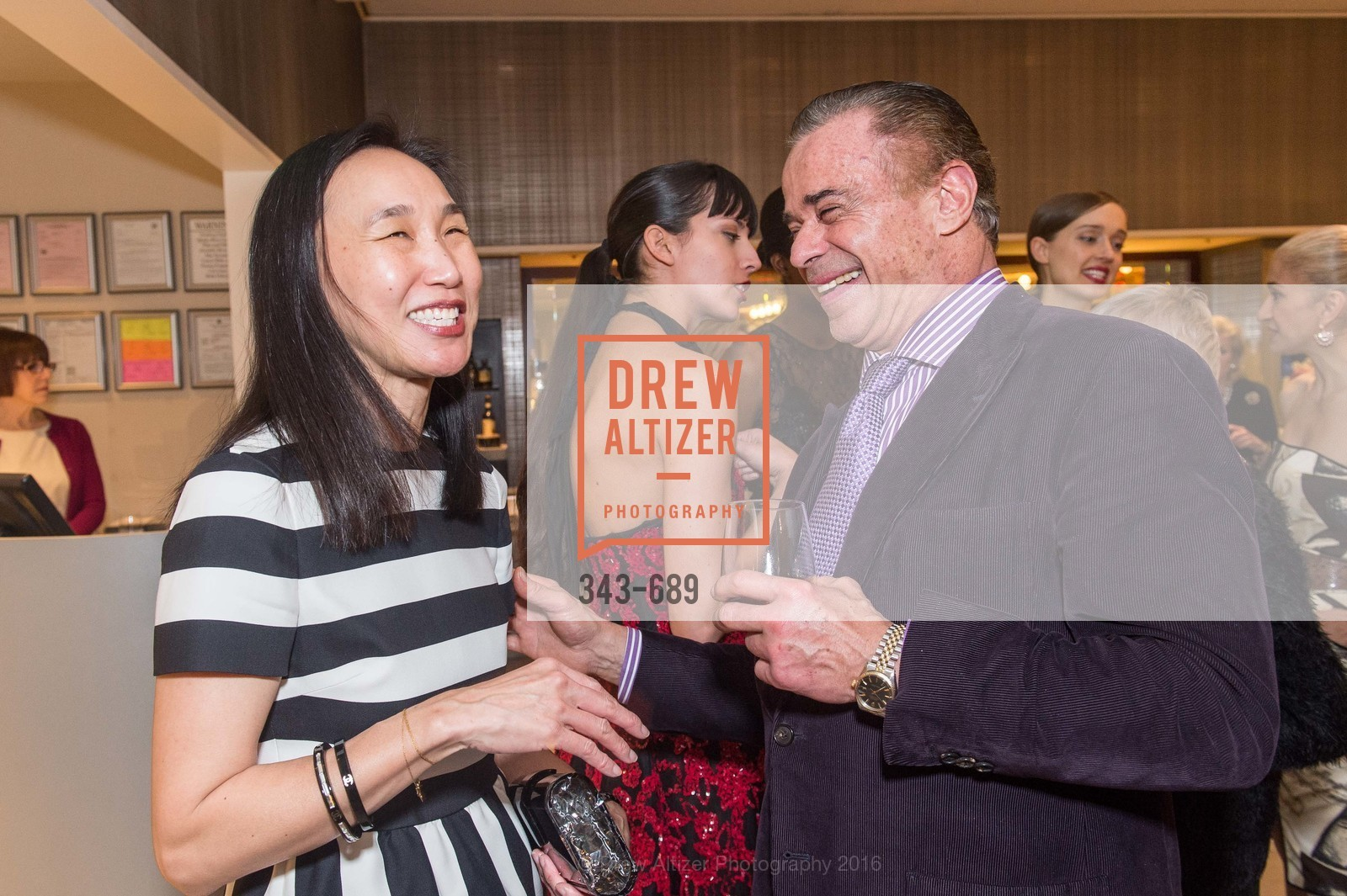 Carolyn Chang, Boaz Mazor, Oscar de la Renta Cocktail Party with Boaz Mazor, The Rotunda Restaurant, January 19th, 2016,Drew Altizer, Drew Altizer Photography, full-service event agency, private events, San Francisco photographer, photographer California