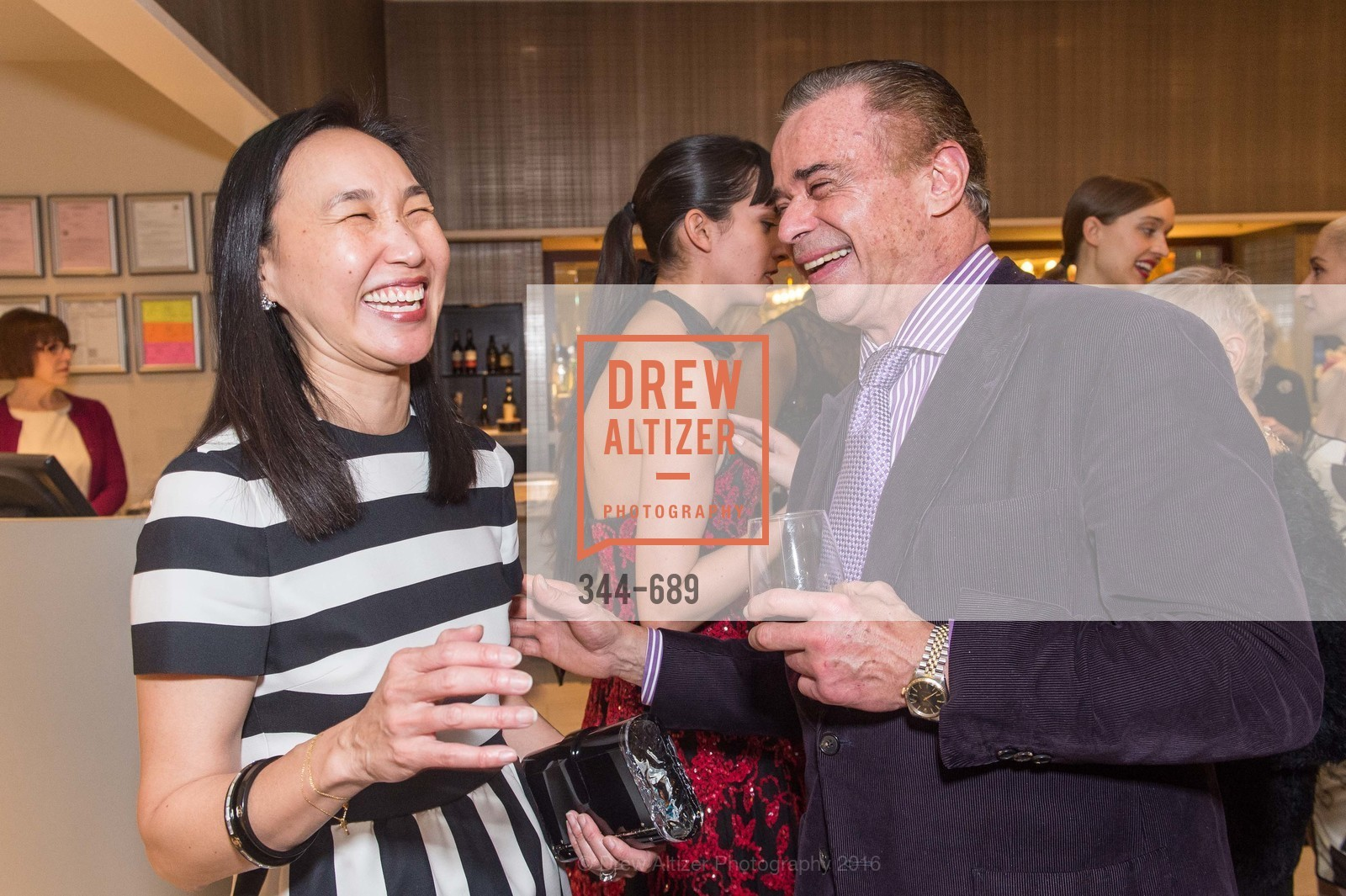 Carolyn Chang, Boaz Mazor, Oscar de la Renta Cocktail Party with Boaz Mazor, The Rotunda Restaurant, January 19th, 2016,Drew Altizer, Drew Altizer Photography, full-service agency, private events, San Francisco photographer, photographer california