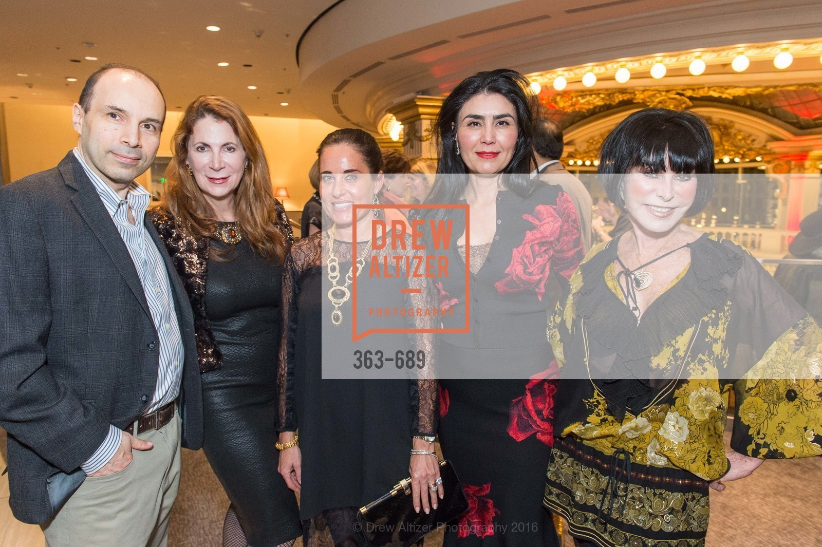 Mark Moasser, Patricia Ferrin Loucks, Natalia Urrutia, Afsaneh Akhtari, Marilyn Cabak, Oscar de la Renta Cocktail Party with Boaz Mazor, The Rotunda Restaurant, January 19th, 2016,Drew Altizer, Drew Altizer Photography, full-service agency, private events, San Francisco photographer, photographer california