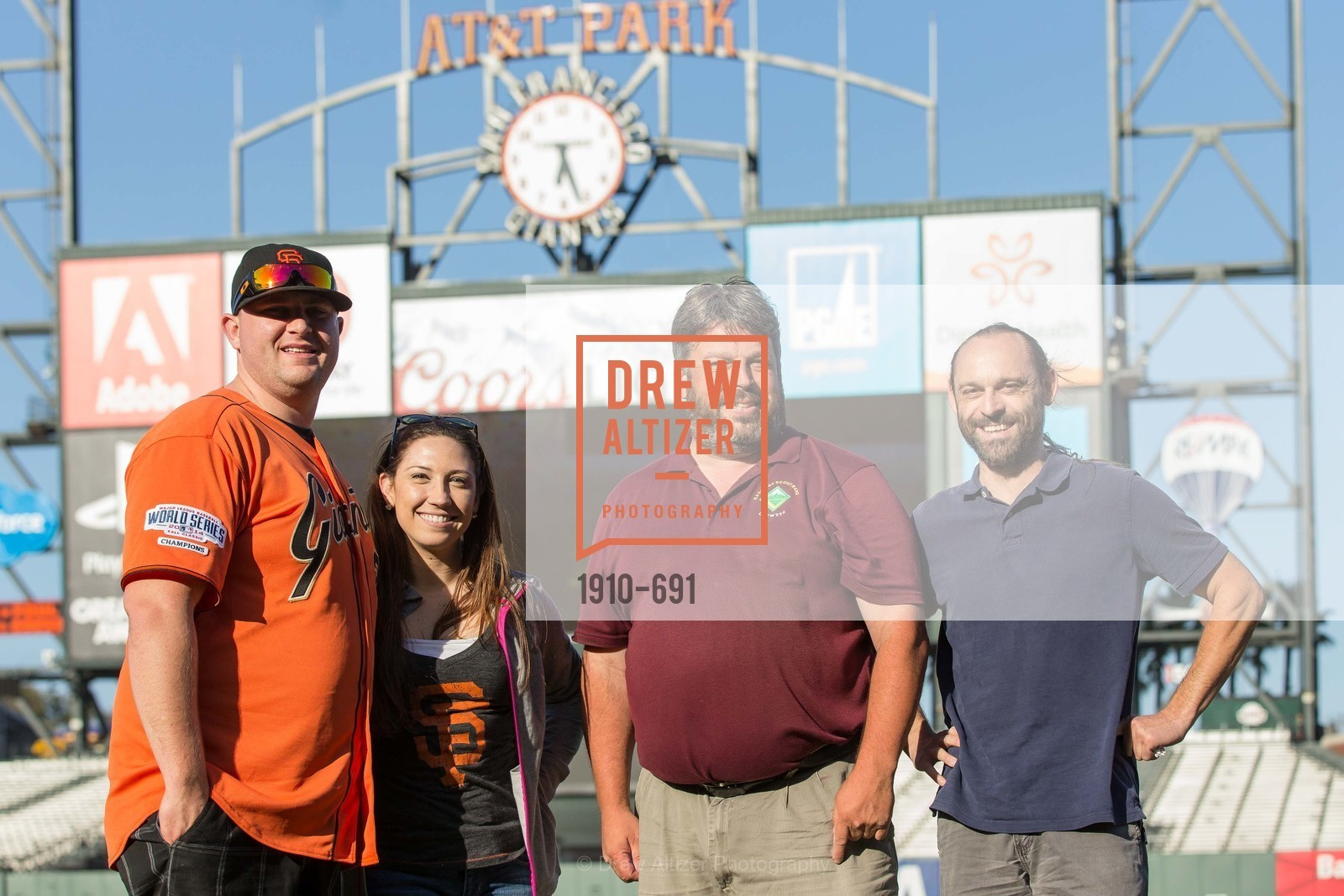 Jesse Wagner, Amanda Thomas, Joseph Ayers, Robert Ayers, ST. FRANCIS FOUNDATION'S Knock It Out of the Park, US. AT&T Park, June 4th, 2015,Drew Altizer, Drew Altizer Photography, full-service agency, private events, San Francisco photographer, photographer california