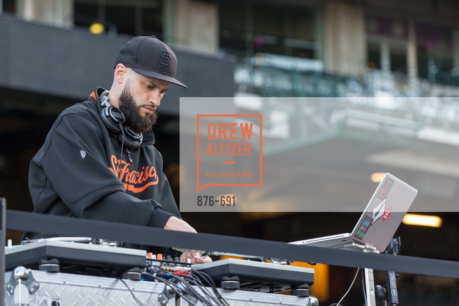 Dj, ST. FRANCIS FOUNDATION'S Knock It Out of the Park, US. AT&T Park, June 4th, 2015,Drew Altizer, Drew Altizer Photography, full-service agency, private events, San Francisco photographer, photographer california