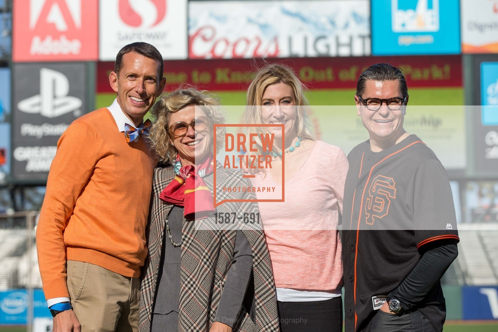 Markham Miller, Jennifer Kiss, Colleen McGuinn, Christopher Meza, ST. FRANCIS FOUNDATION'S Knock It Out of the Park, US. AT&T Park, June 4th, 2015,Drew Altizer, Drew Altizer Photography, full-service agency, private events, San Francisco photographer, photographer california