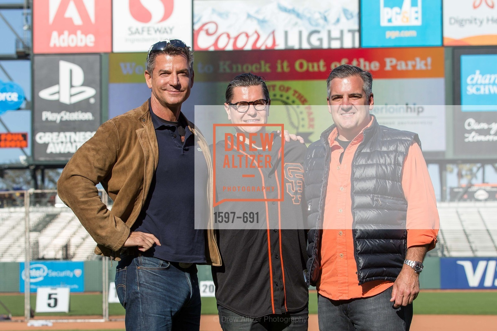 David Kensington, Christopher Meza, Tim Graffigna, ST. FRANCIS FOUNDATION'S Knock It Out of the Park, US. AT&T Park, June 4th, 2015,Drew Altizer, Drew Altizer Photography, full-service agency, private events, San Francisco photographer, photographer california