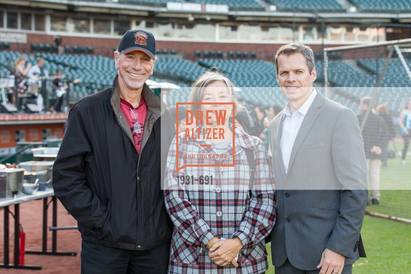 Mark Garfield, Cynthia Garfield, Rob Connolly, ST. FRANCIS FOUNDATION'S Knock It Out of the Park, US. AT&T Park, June 4th, 2015,Drew Altizer, Drew Altizer Photography, full-service agency, private events, San Francisco photographer, photographer california