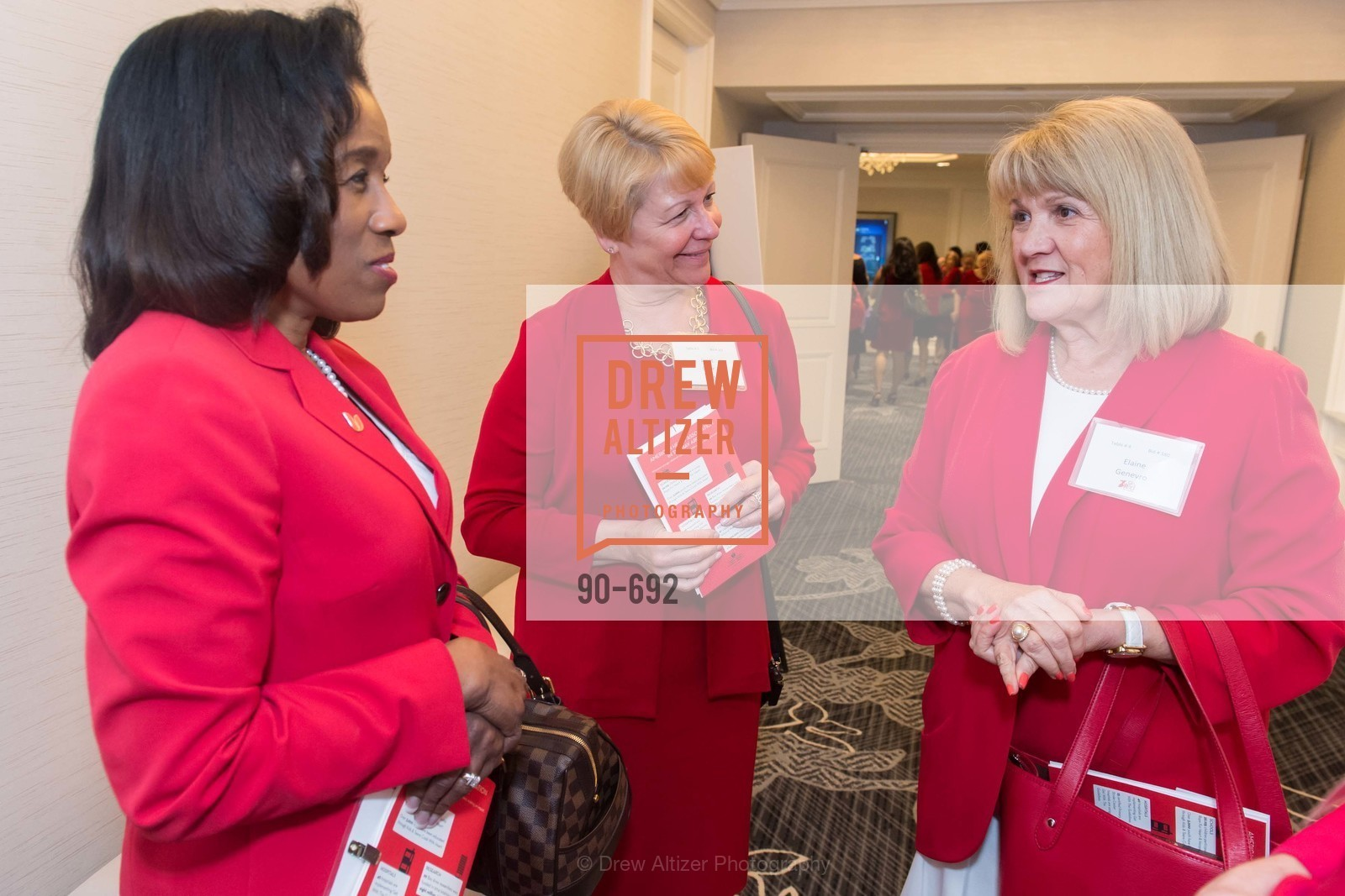 Deborah Taylor, Janet Egler, Elaine Genebro, 2015 GoRed for Women Luncheon, US, May 2nd, 2015,Drew Altizer, Drew Altizer Photography, full-service agency, private events, San Francisco photographer, photographer california