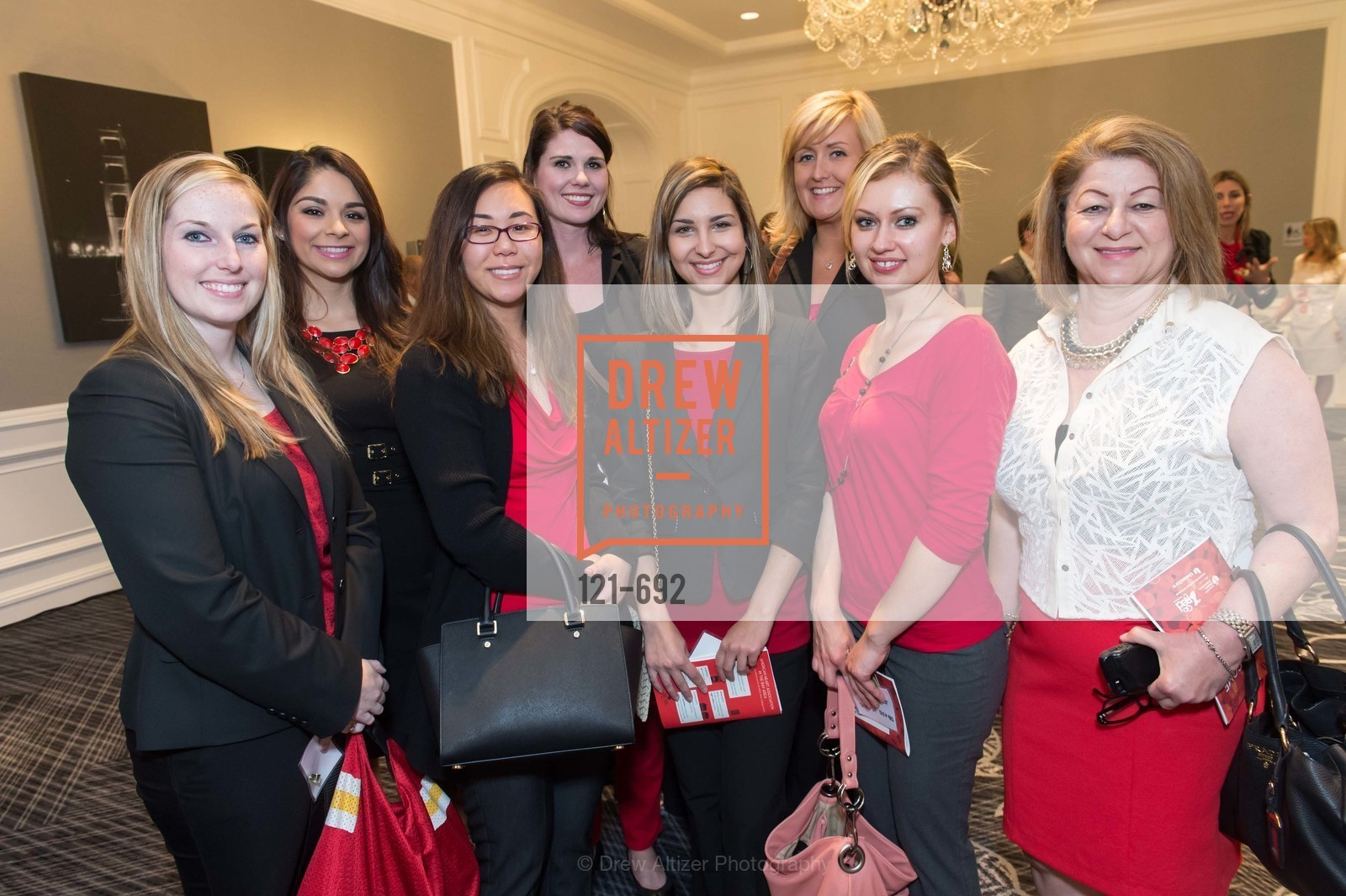 Jennifer Fletcher, Jessica Mendoza, Jessica Kuo, Marissa Anderson, Chloe Vaille, Andrea Wong, Kristin Bruner, Phoebe Marashi, 2015 GoRed for Women Luncheon, US, May 1st, 2015,Drew Altizer, Drew Altizer Photography, full-service agency, private events, San Francisco photographer, photographer california