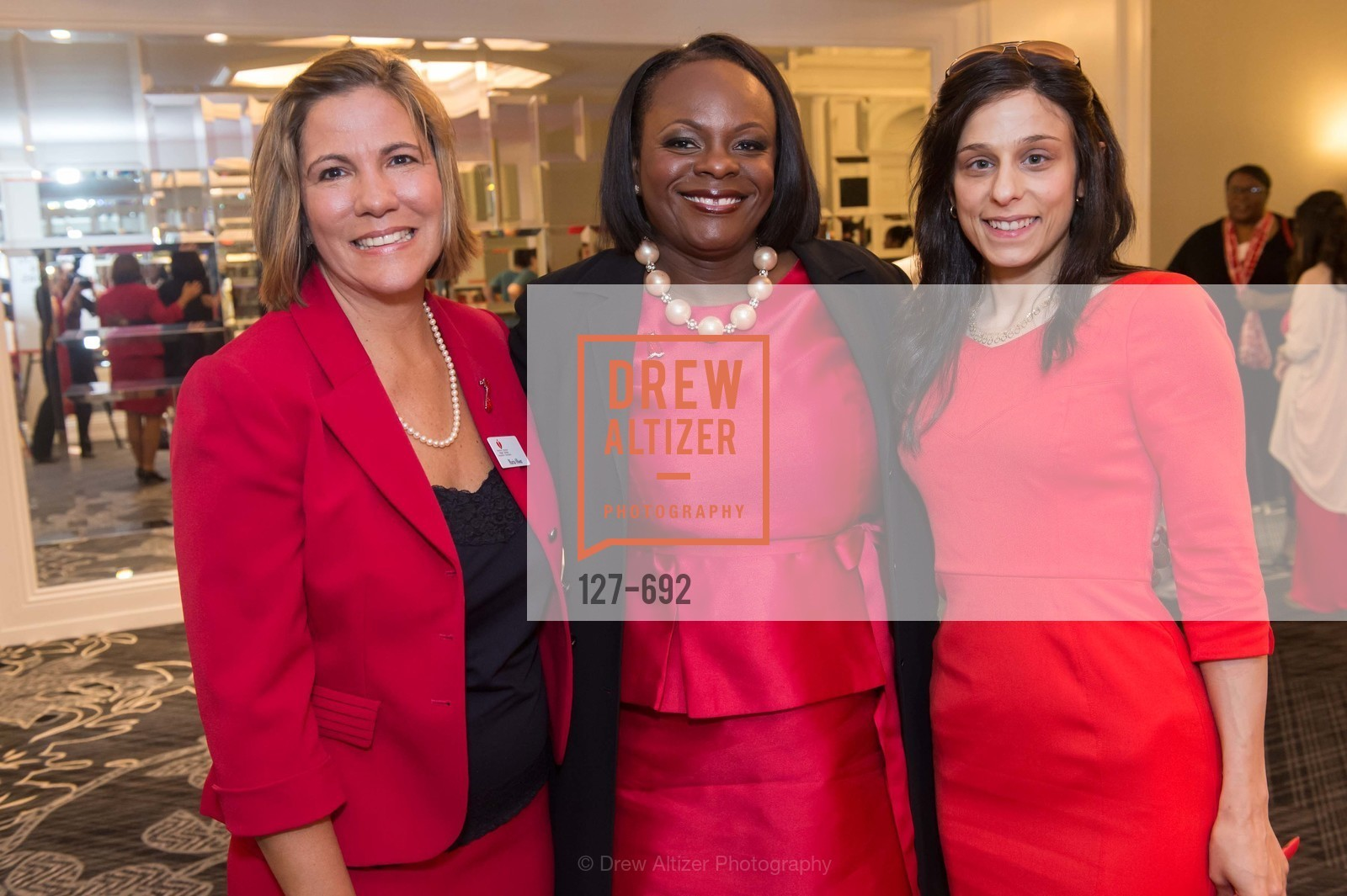 Maria Olson, Michelle Albert, Lina Arnaout, 2015 GoRed for Women Luncheon, US, May 1st, 2015,Drew Altizer, Drew Altizer Photography, full-service agency, private events, San Francisco photographer, photographer california