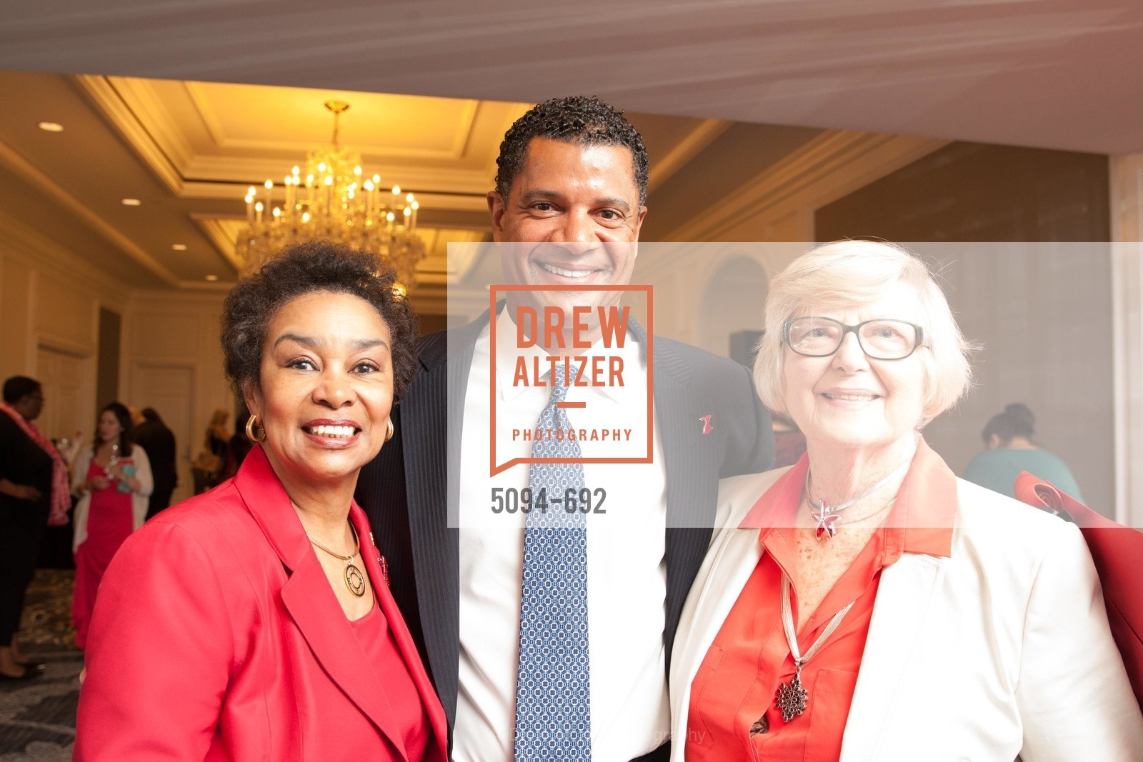 Anette Harris, Jeff Thomas, Zdenka Pisared, 2015 GoRed for Women Luncheon, US, May 1st, 2015,Drew Altizer, Drew Altizer Photography, full-service agency, private events, San Francisco photographer, photographer california