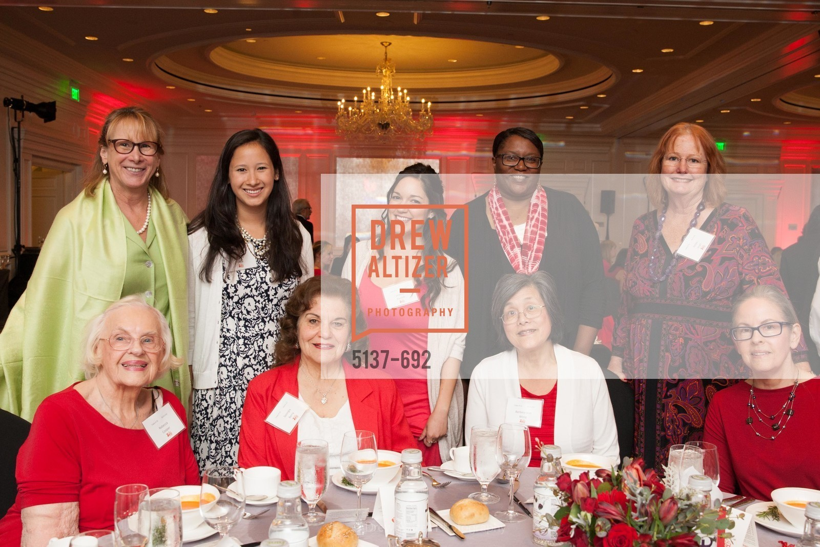 Rebecca Cooper, Georgia Berry, Lindsey Perrelli, Barbara Wong, Debbie Vega, 2015 GoRed for Women Luncheon, US, May 2nd, 2015,Drew Altizer, Drew Altizer Photography, full-service agency, private events, San Francisco photographer, photographer california