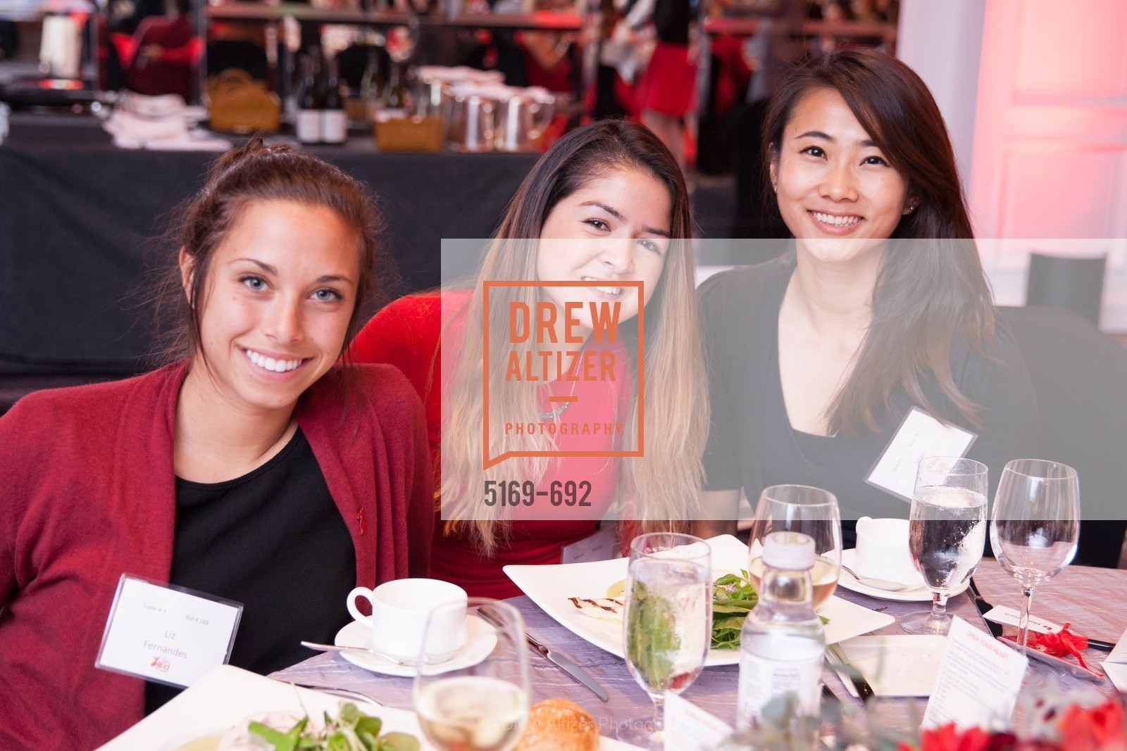 Liz Fernandes, Katie Matthews, Joan Wing, 2015 GoRed for Women Luncheon, US, May 2nd, 2015,Drew Altizer, Drew Altizer Photography, full-service agency, private events, San Francisco photographer, photographer california