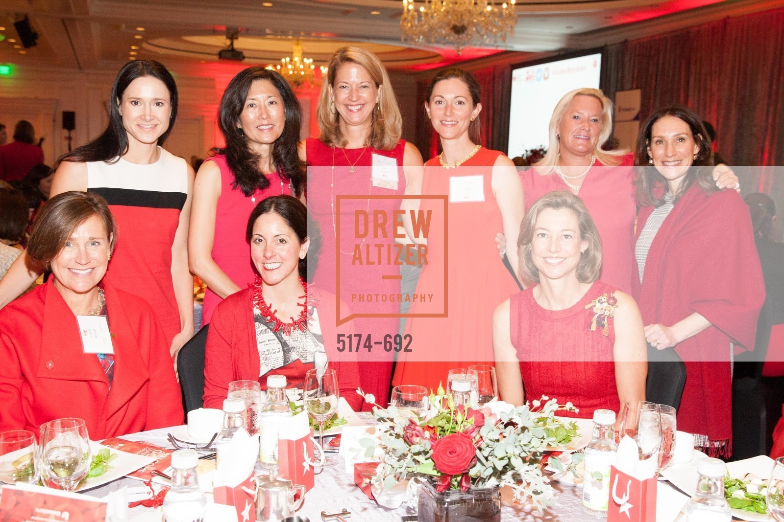 Wendy Bolton, Julie Gruber, Stacy Dobos, Jennifer Larson, Schyler Tollman, Kimberly Hooker, Karen Kotowitz, 2015 GoRed for Women Luncheon, US, May 2nd, 2015,Drew Altizer, Drew Altizer Photography, full-service event agency, private events, San Francisco photographer, photographer California
