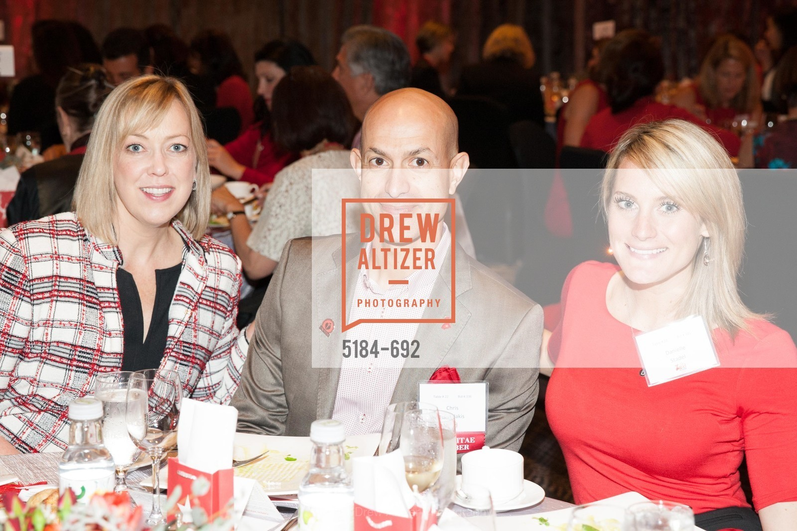 Shawn Casey-White, Chris Tsakakis, Danielle Stadel, 2015 GoRed for Women Luncheon, US, May 1st, 2015,Drew Altizer, Drew Altizer Photography, full-service agency, private events, San Francisco photographer, photographer california