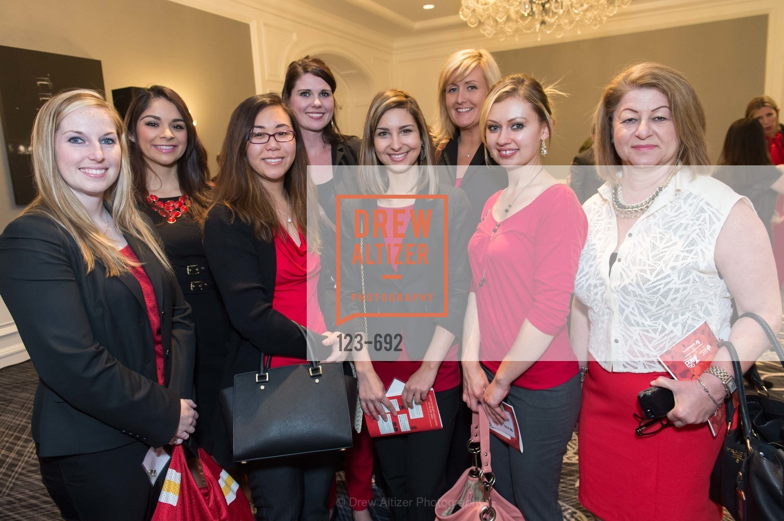 Jennifer Fletcher, Jessica Mendoza, Jessica Kuo, Marissa Anderson, Chloe Vaille, Andrea Wong, Kristin Bruner, Phoebe Marashi, 2015 GoRed for Women Luncheon, US, May 2nd, 2015,Drew Altizer, Drew Altizer Photography, full-service agency, private events, San Francisco photographer, photographer california