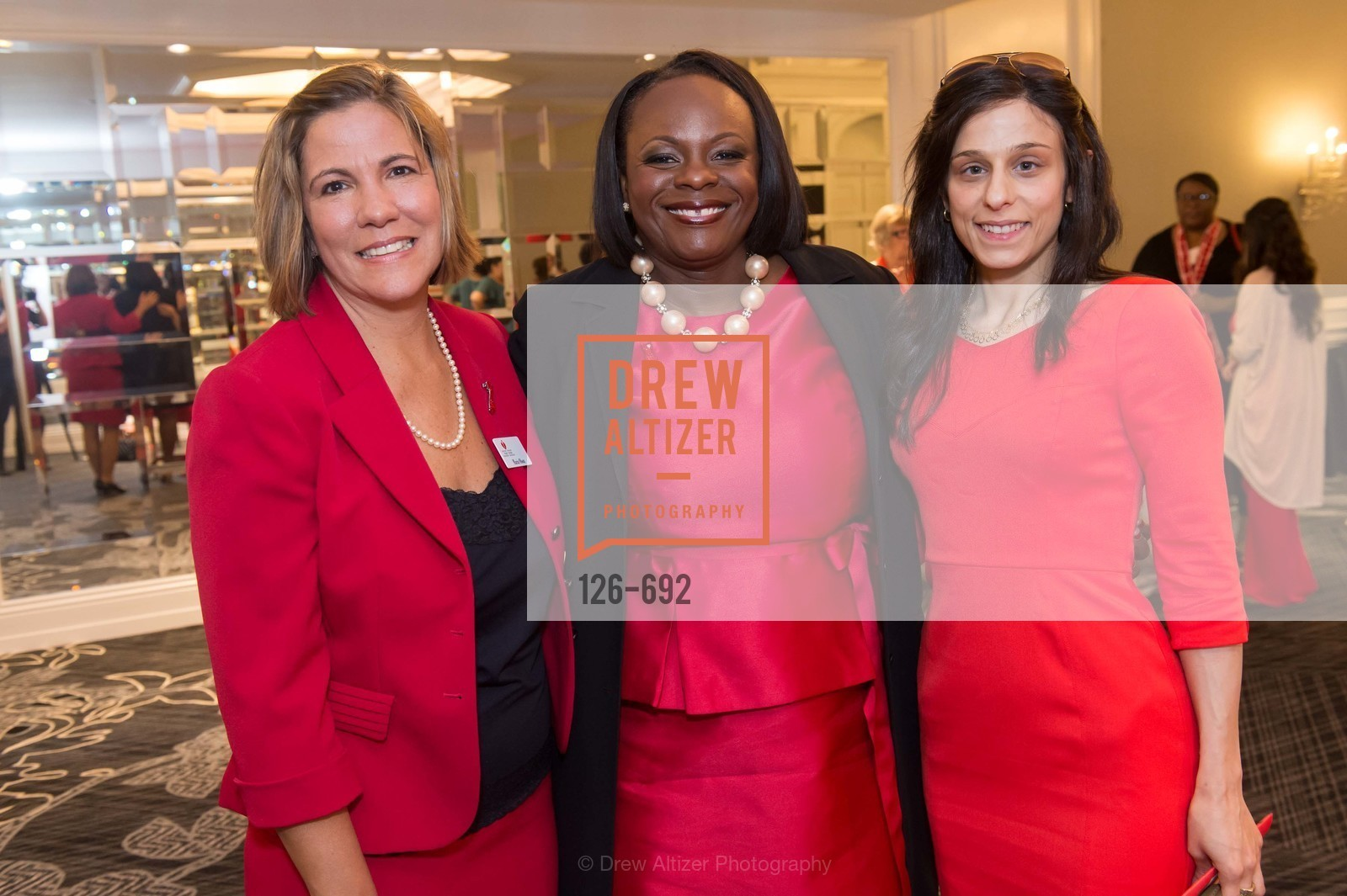 Maria Olson, Michelle Albert, Lina Arnaout, 2015 GoRed for Women Luncheon, US, May 2nd, 2015,Drew Altizer, Drew Altizer Photography, full-service agency, private events, San Francisco photographer, photographer california