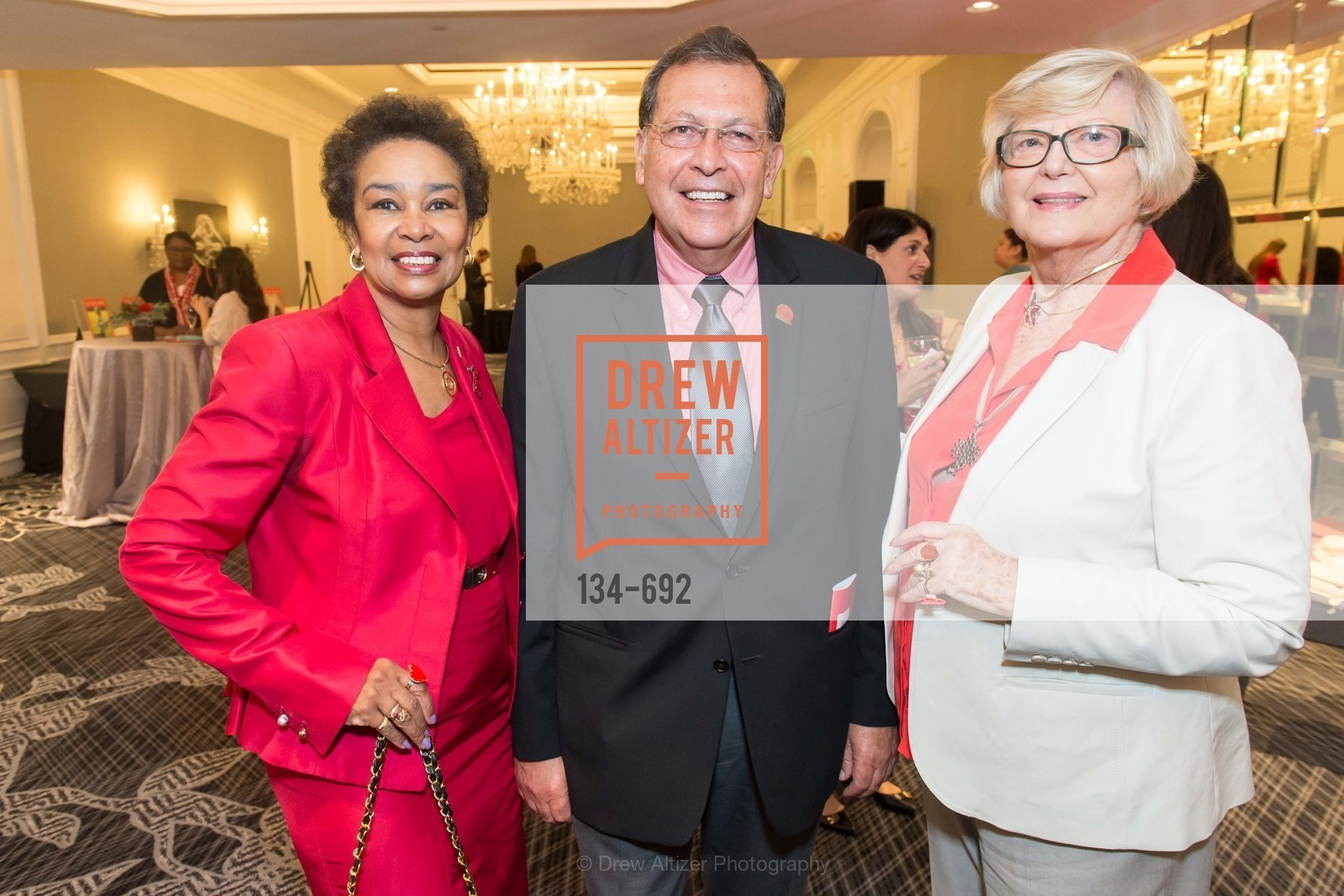 Anette Harris, Marcelo Rivera, Zdenka Pisared, 2015 GoRed for Women Luncheon, US, May 2nd, 2015,Drew Altizer, Drew Altizer Photography, full-service agency, private events, San Francisco photographer, photographer california