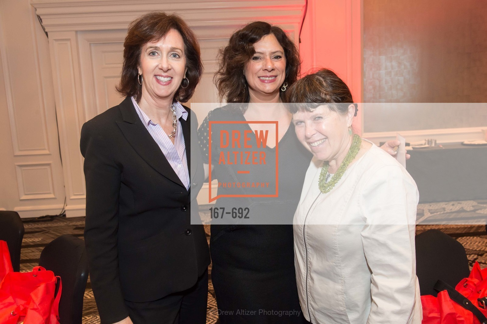 Deborah Wright, Cathy Nevolo, Andrea Dino, 2015 GoRed for Women Luncheon, US, May 2nd, 2015,Drew Altizer, Drew Altizer Photography, full-service agency, private events, San Francisco photographer, photographer california