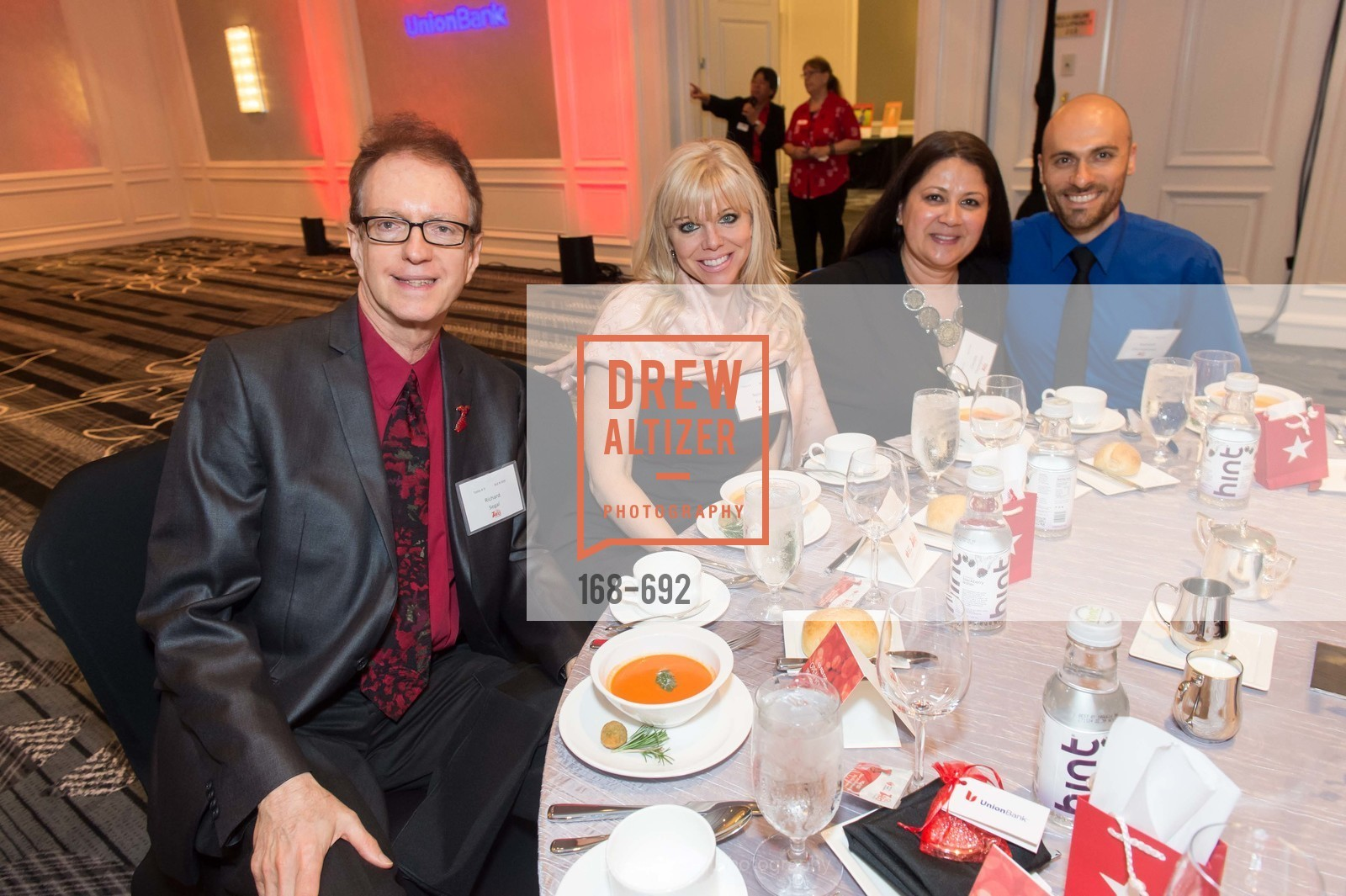 Richard Segal, Nancy Ryan, Claudia Thompson, Andy Dischekenyon, 2015 GoRed for Women Luncheon, US, May 2nd, 2015,Drew Altizer, Drew Altizer Photography, full-service agency, private events, San Francisco photographer, photographer california