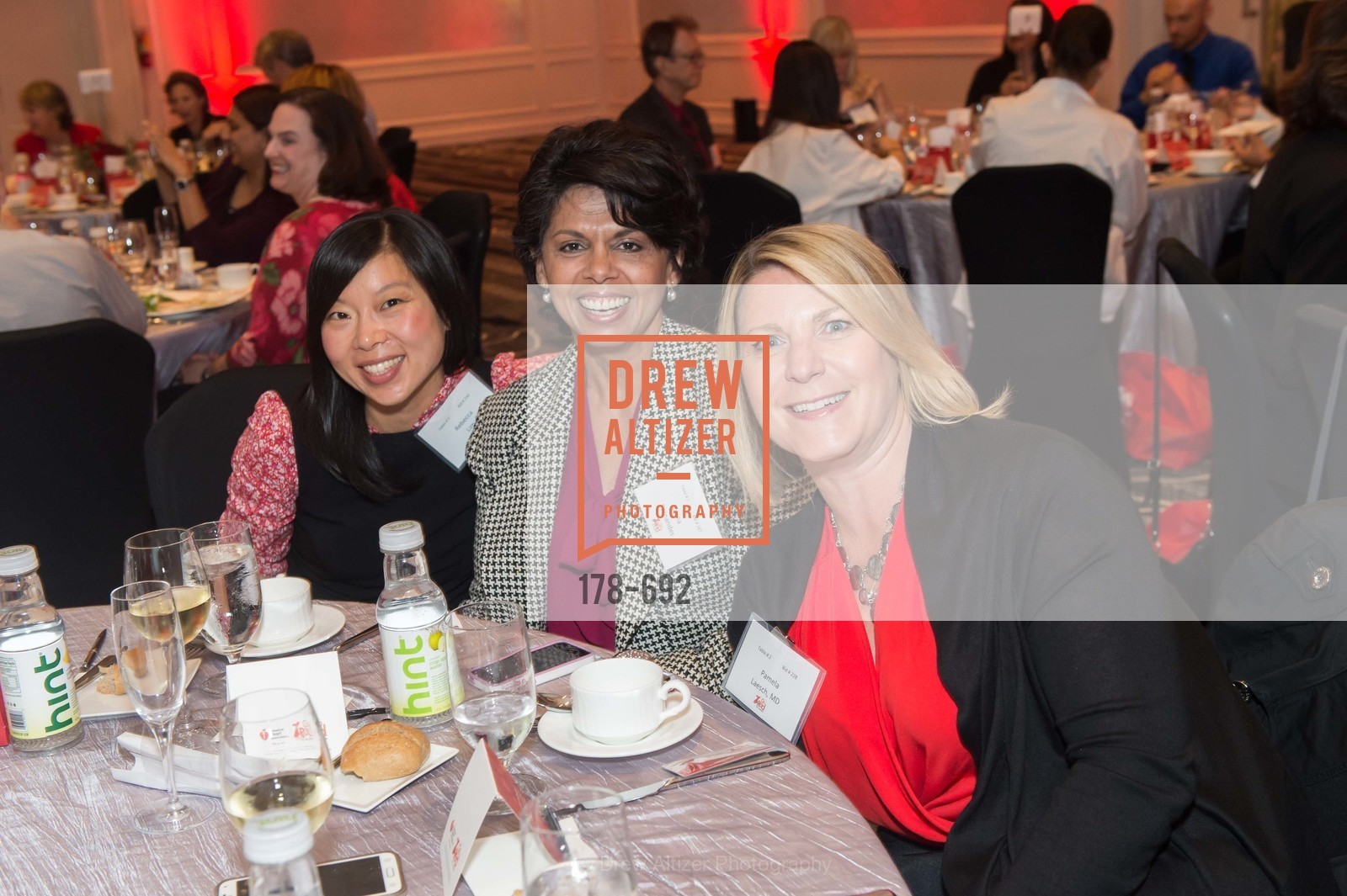 Rebecca Um, Lorna Fernandes, Pamela Laesch, 2015 GoRed for Women Luncheon, US, May 2nd, 2015,Drew Altizer, Drew Altizer Photography, full-service agency, private events, San Francisco photographer, photographer california