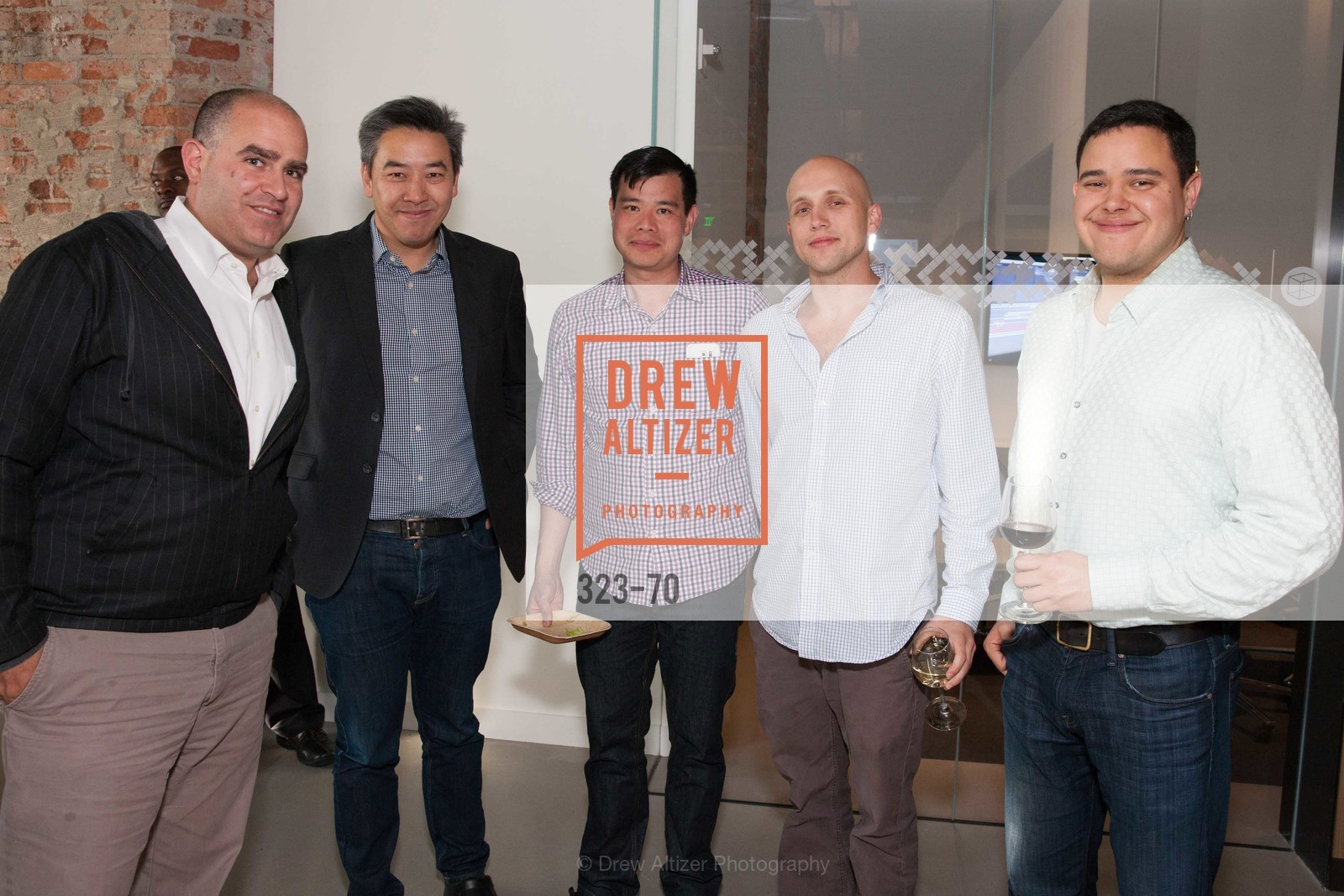 Roy Bahat, James Cham, Wesley Chan, Arthur Lozinski, Julian Ramirez, Bloomberg Tech Hosts New San Francisco Office Opening Party, 140 Montgomery Street, May 6th, 2015,Drew Altizer, Drew Altizer Photography, full-service agency, private events, San Francisco photographer, photographer california