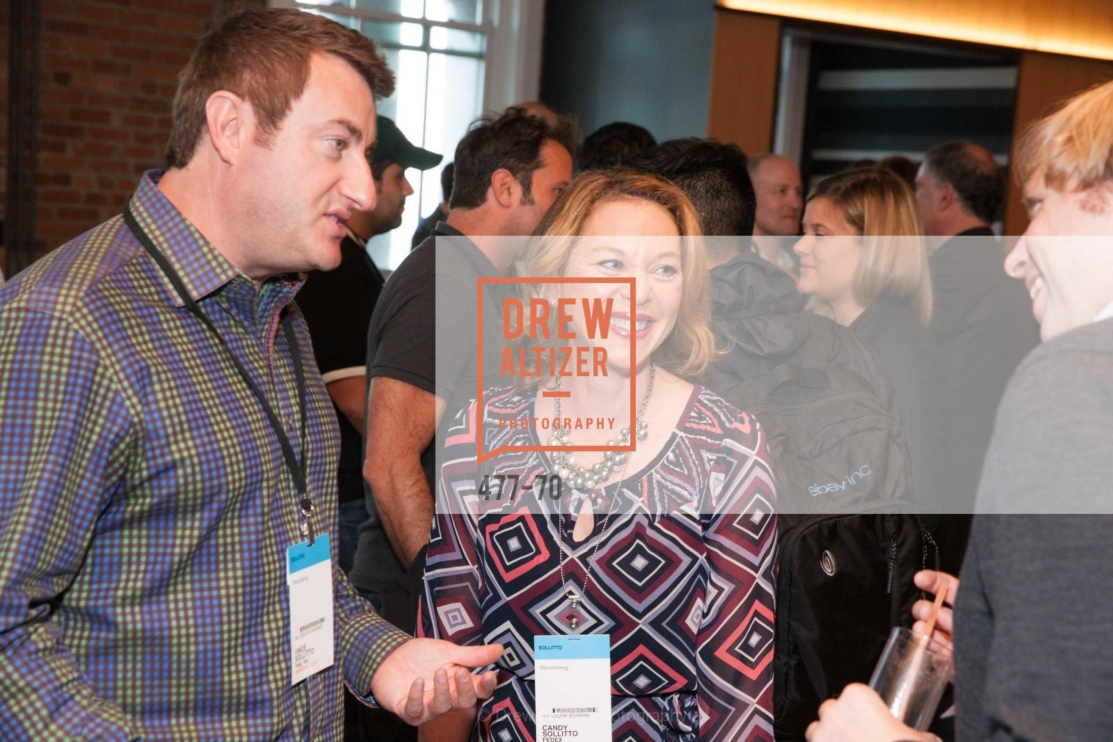 Vince Sollitto, Candy Sollitto, Bloomberg Tech Hosts New San Francisco Office Opening Party, 140 Montgomery Street, May 6th, 2015,Drew Altizer, Drew Altizer Photography, full-service agency, private events, San Francisco photographer, photographer california