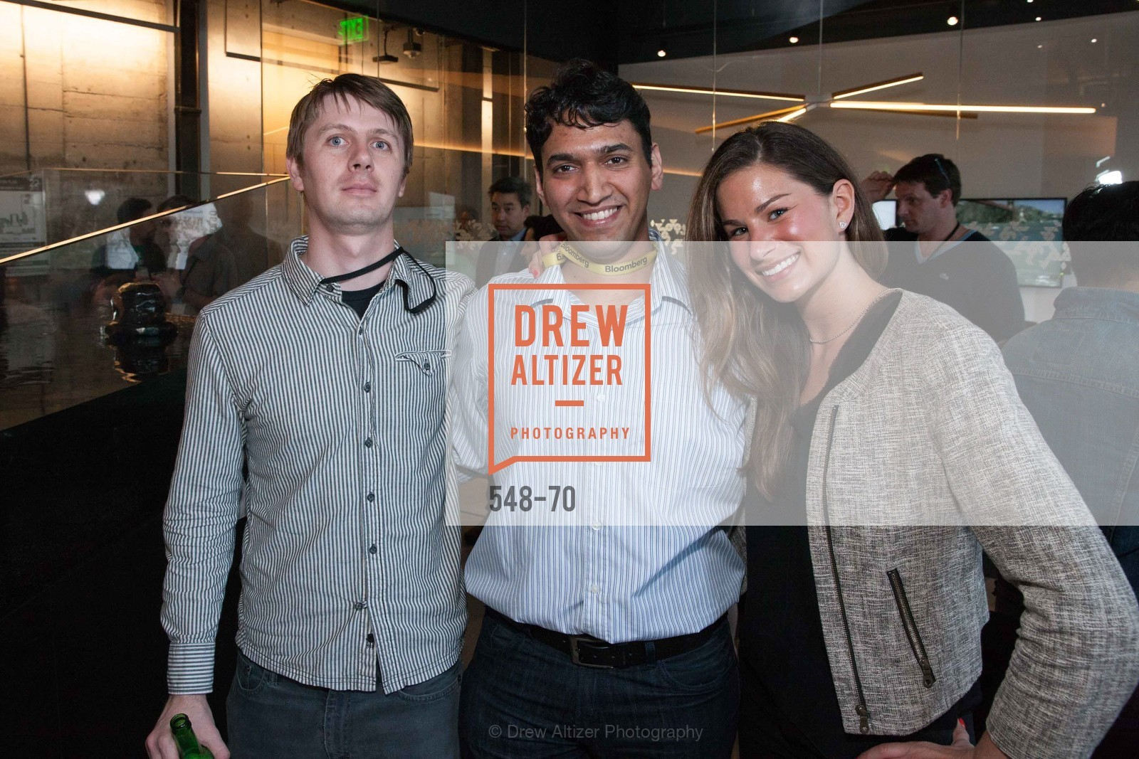 Max Leubbe, Densel Santhamayor, Lauren Tucker, Bloomberg Tech Hosts New San Francisco Office Opening Party, 140 Montgomery Street, May 6th, 2015,Drew Altizer, Drew Altizer Photography, full-service agency, private events, San Francisco photographer, photographer california